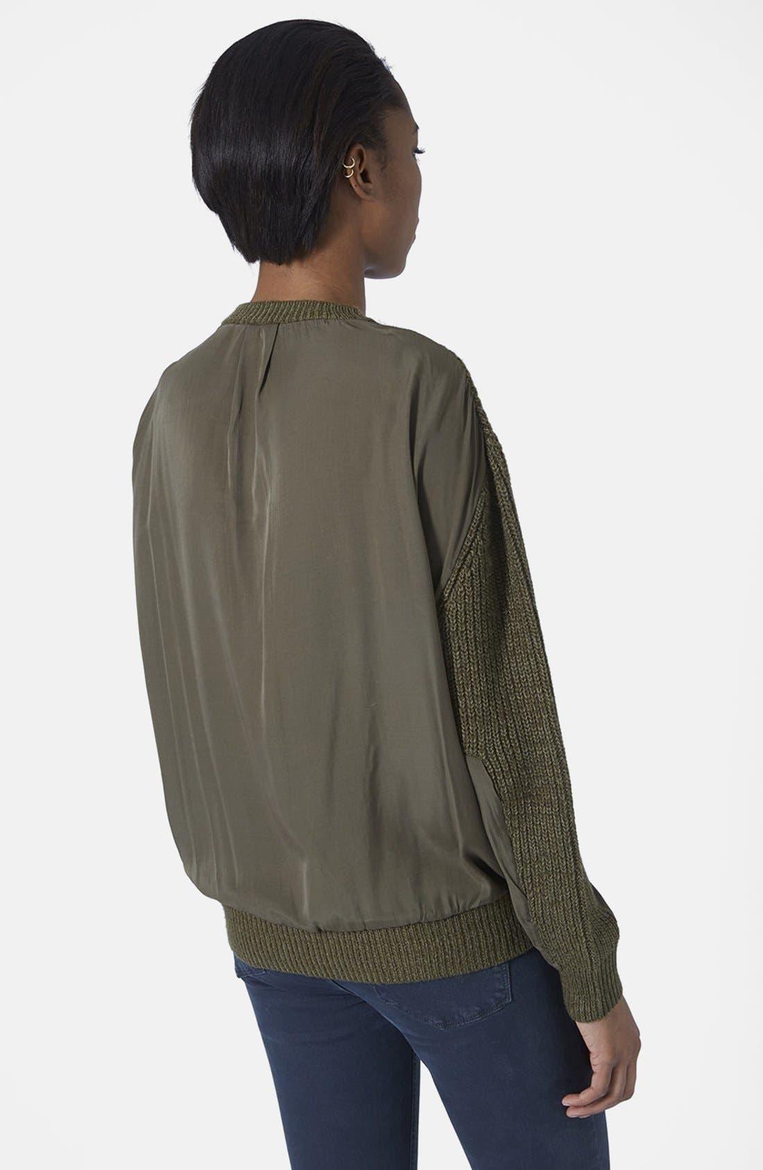Alternate Image 3  - Topshop Hybrid Rib Sweater