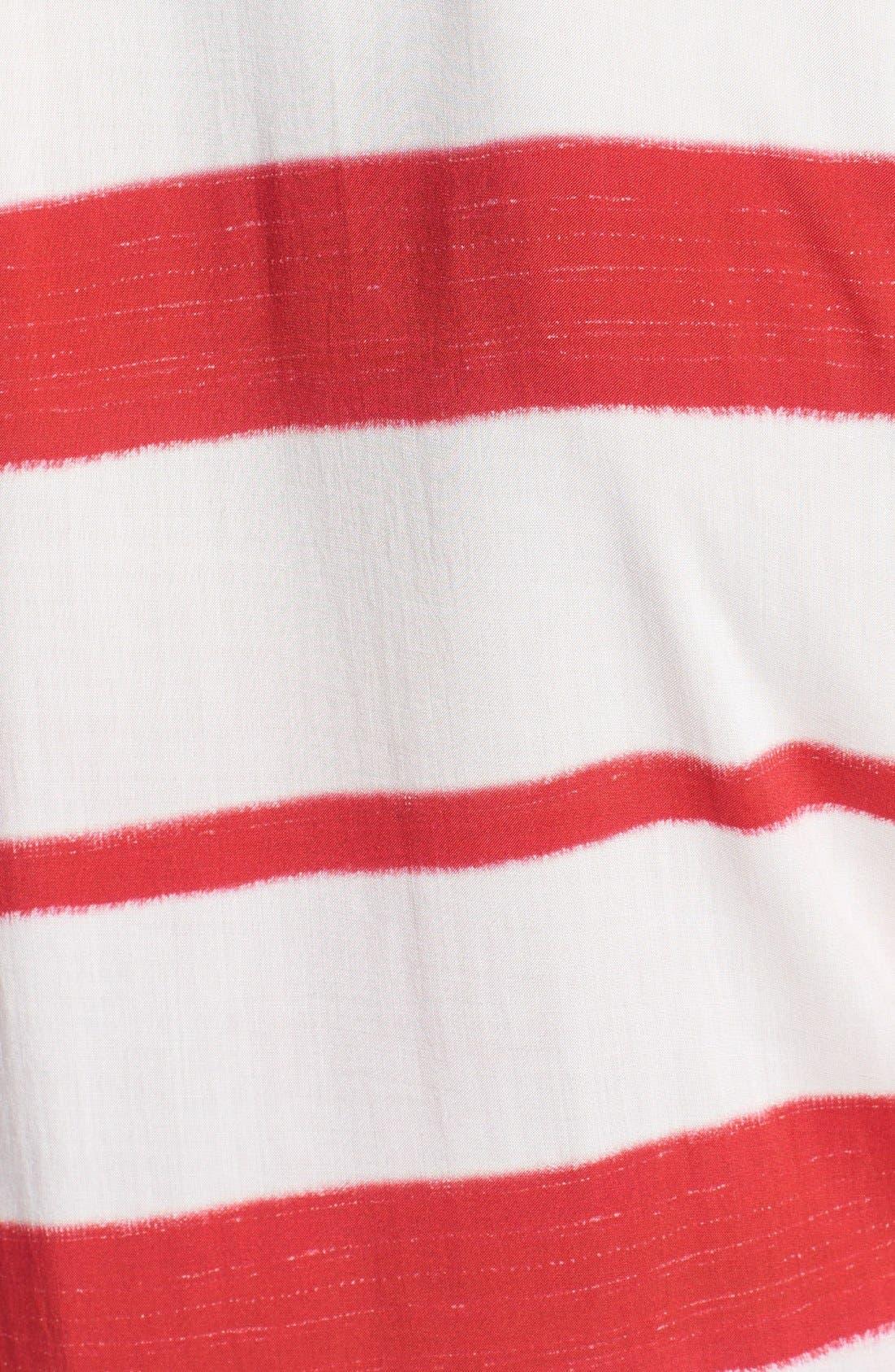 'Desert Helen' Stripe Cover-Up Tunic,                             Alternate thumbnail 3, color,                             Desert
