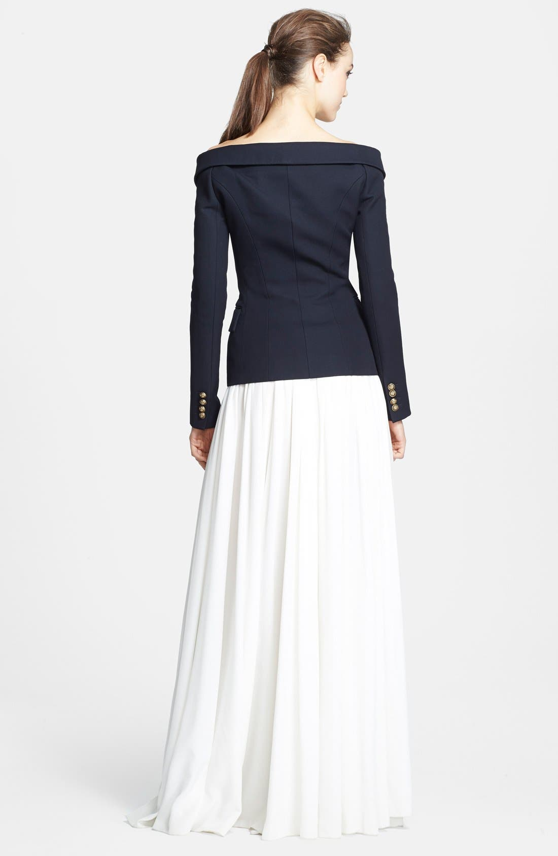 Alternate Image 2  - Faith Connexion 'Serge' Off Shoulder Wool Jacket