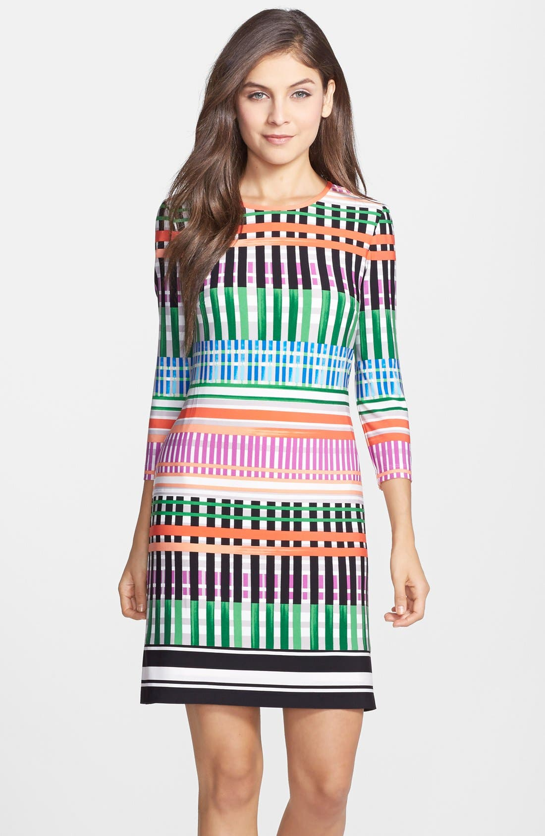 Alternate Image 1 Selected - Eliza J Print Jersey A-Line Dress