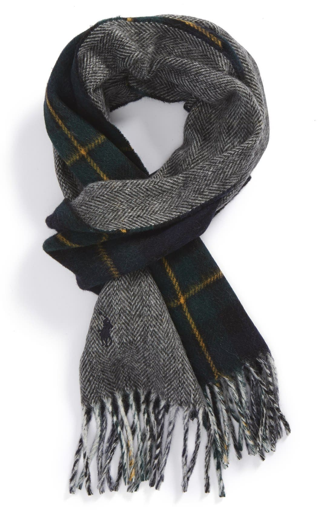 Wool Blend Scarf,                         Main,                         color, Forbes Tartan