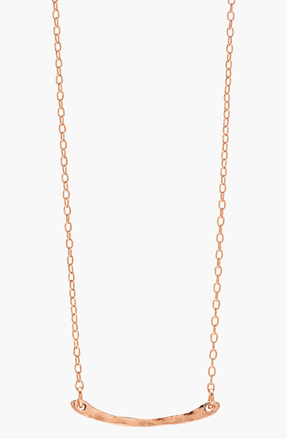 gorjana 'Taner' Bar Mini Pendant Necklace