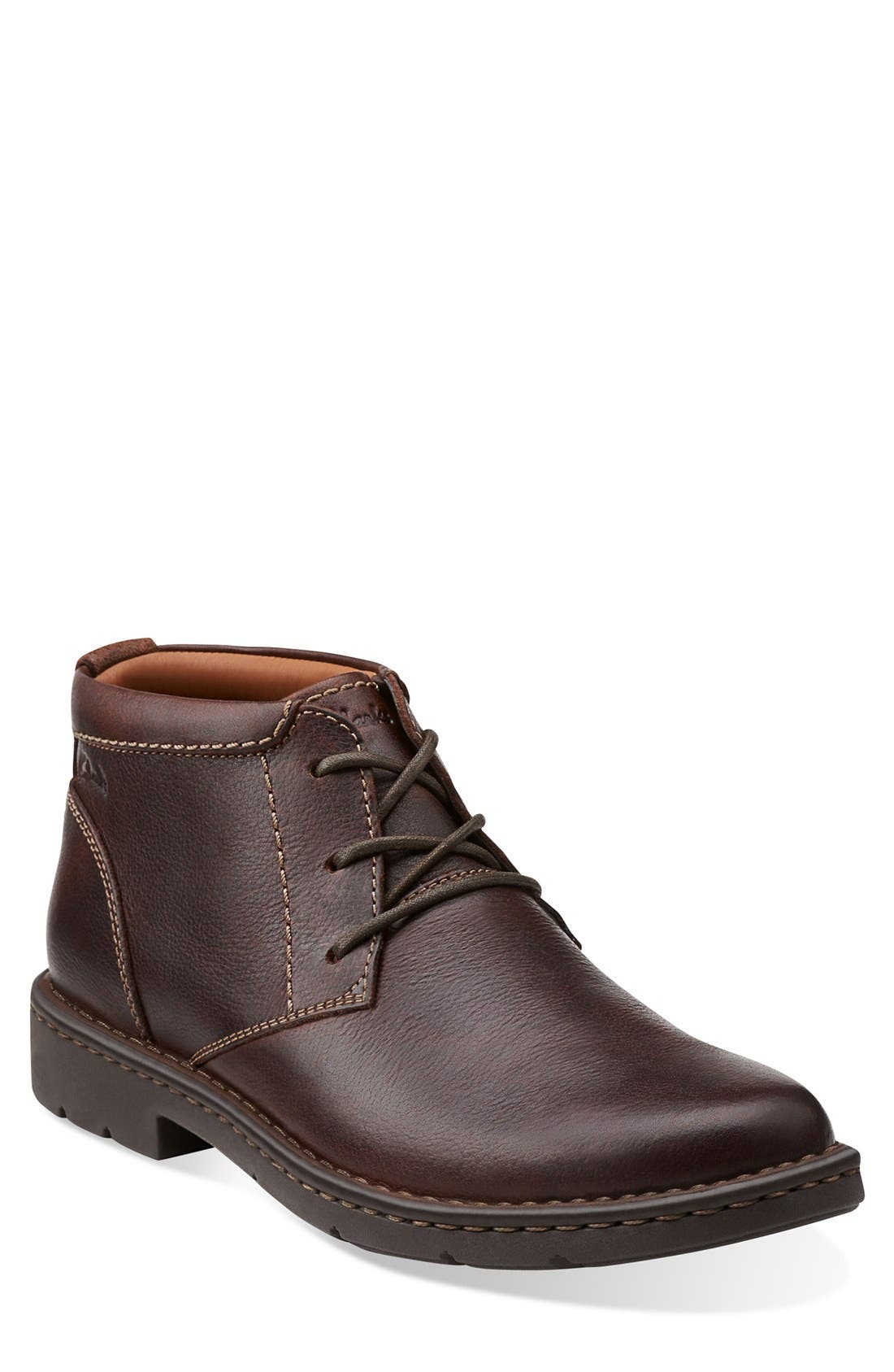 Main Image - Clarks® 'Stratton - Limit' Plain Toe Boot (Men)