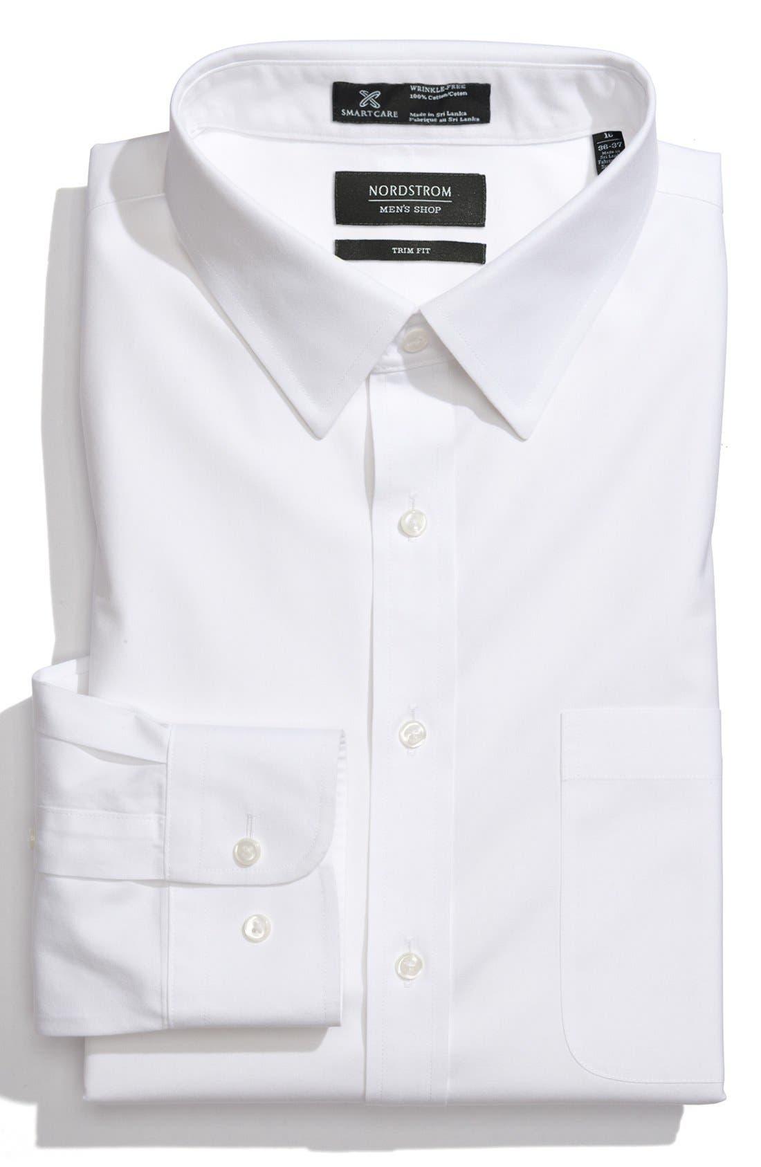 Nordstrom Men's Shop Smartcare™ Trim Fit Solid Dress Shirt | Nordstrom