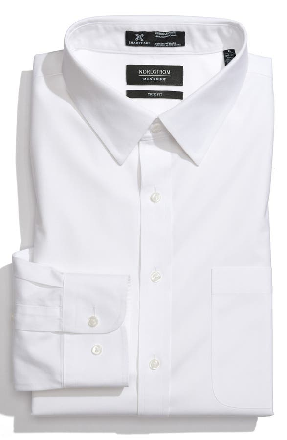 Nordstrom Men's Shop Smartcare™ Trim Fit Solid Dress Shirt | Nordstrom