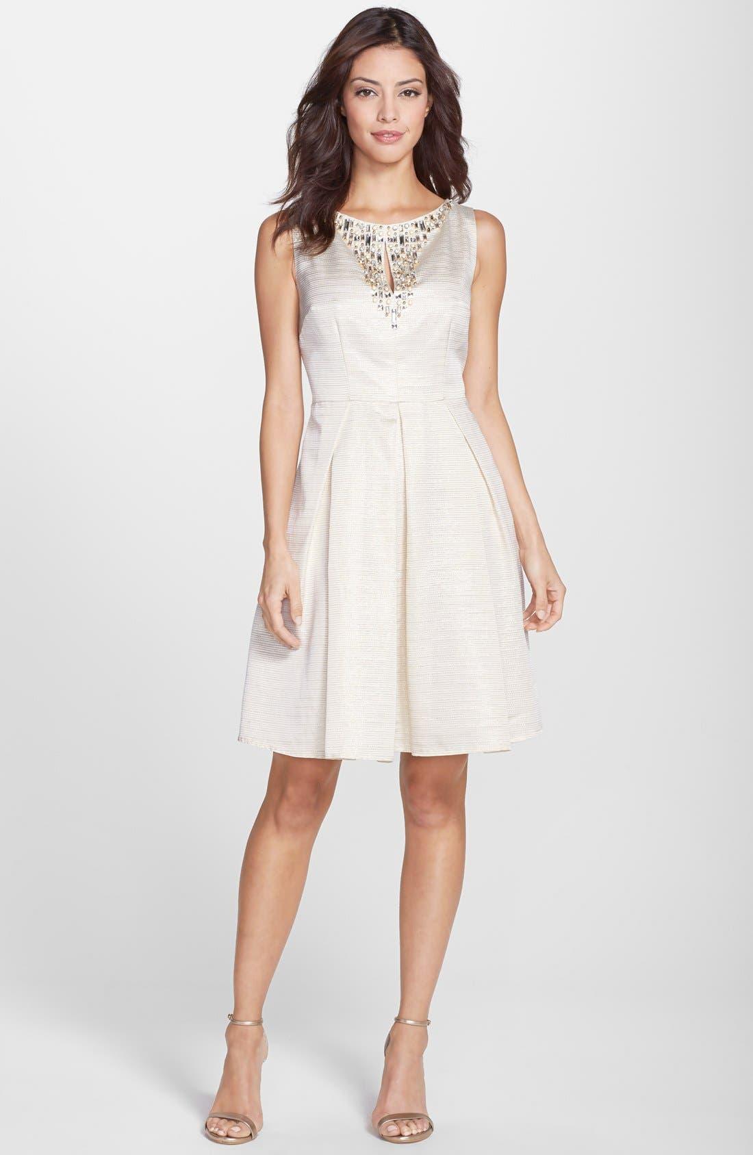 Alternate Image 3  - Eliza J Embellished Fit & Flare Dress