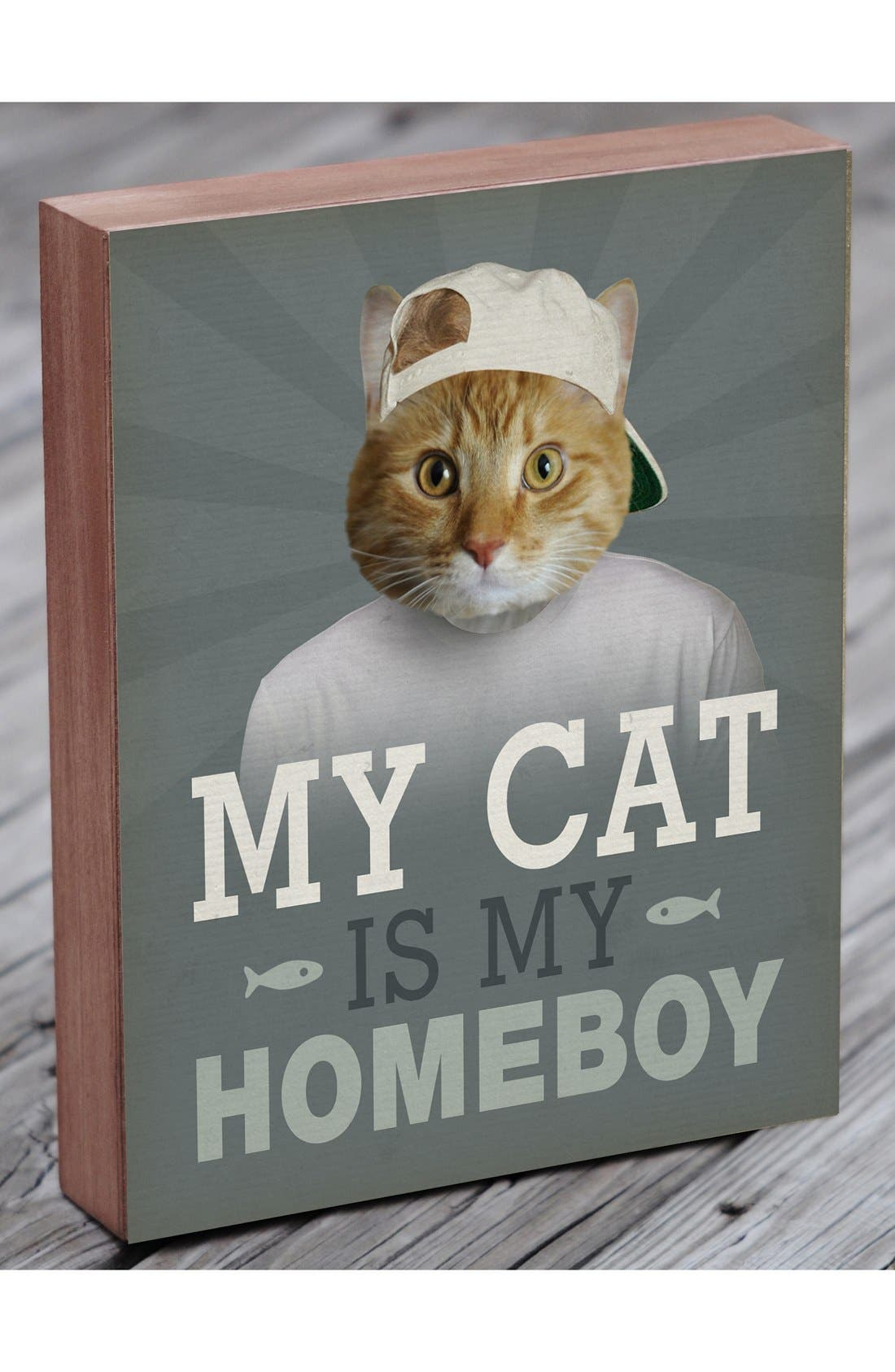 Alternate Image 3  - Lucius Designs 'My Cat Is My Homeboy' Wall Art
