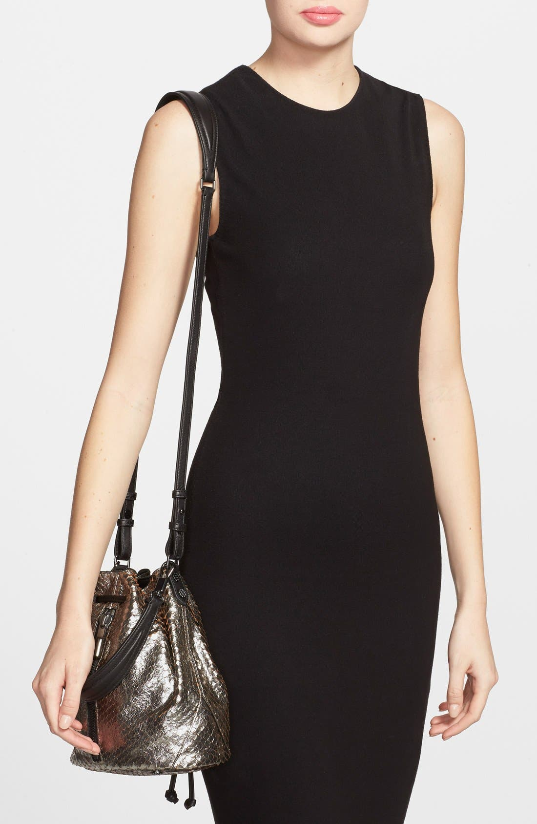 Alternate Image 2  - Elizabeth and James 'Mini Cynnie' Snake Effect Leather Convertible Bucket Bag