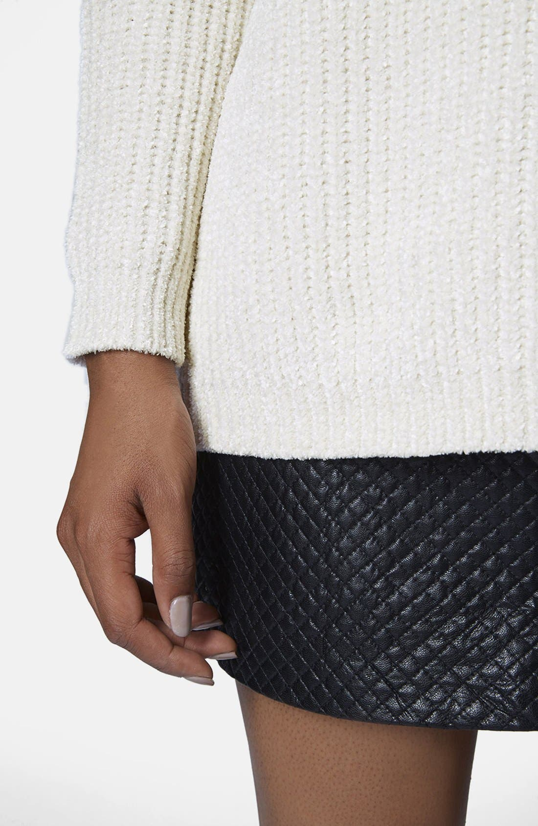 Alternate Image 4  - Topshop Slouchy Chenille Sweater
