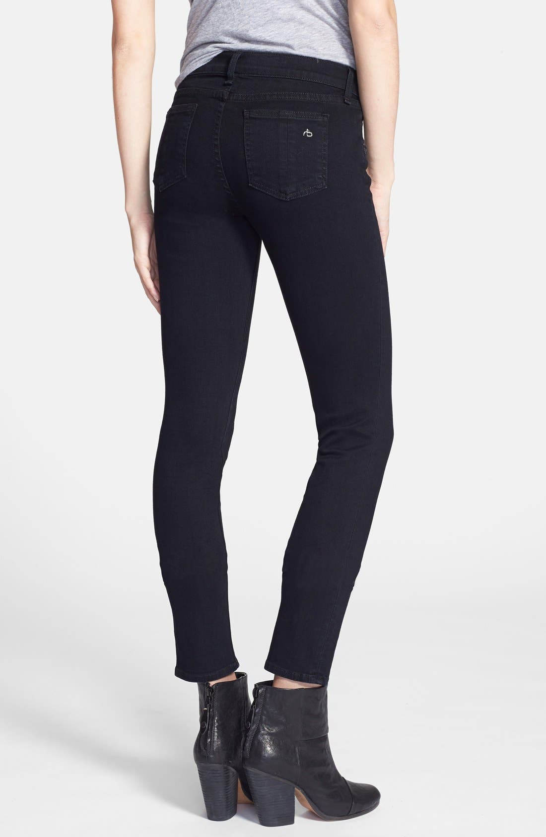 Alternate Image 2  - rag & bone/JEAN 'The Skinny' Stretch Jeans (Coal)