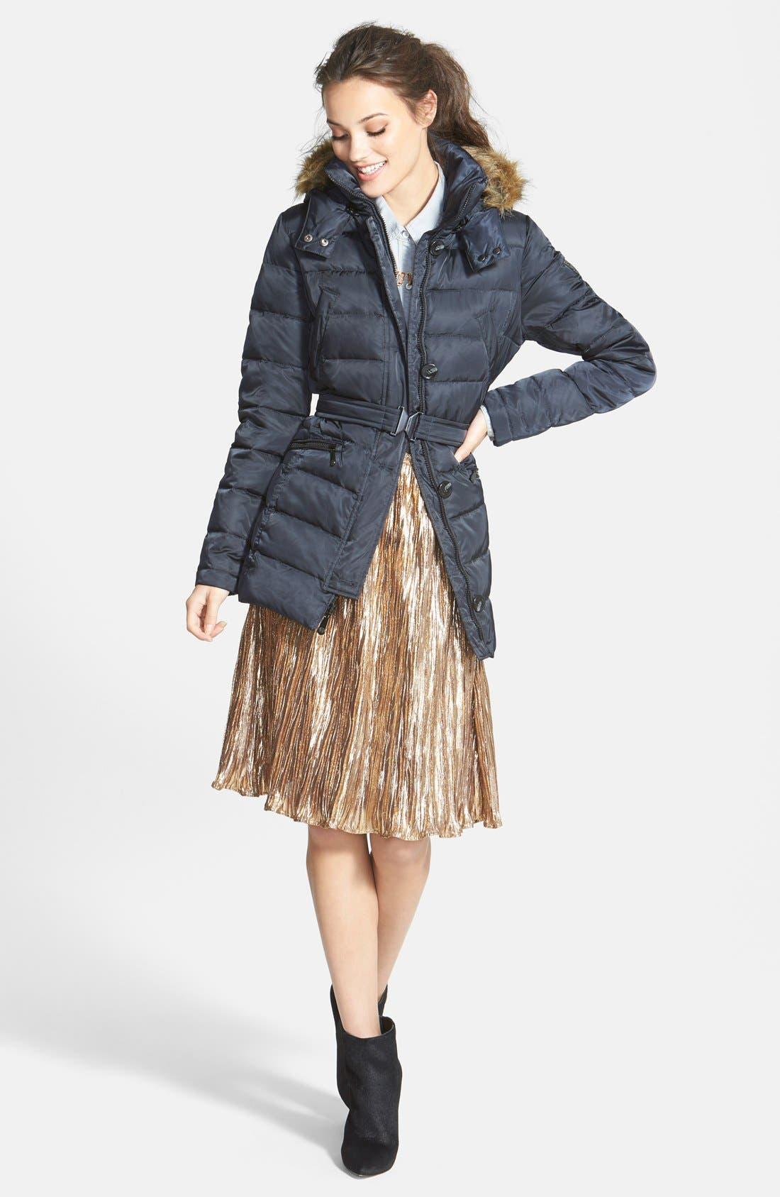 Alternate Image 4  - ASTR Metallic Crinkle Midi Skirt