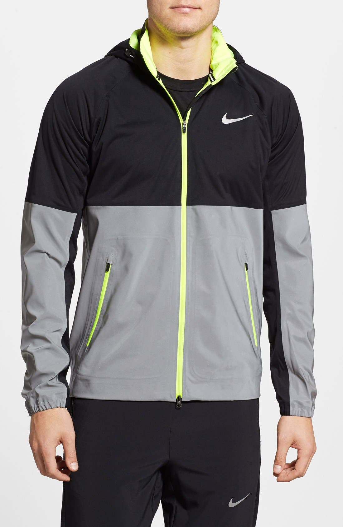 Nike 'Shield Flash' Storm-FIT Running Jacket with Detachable Hood
