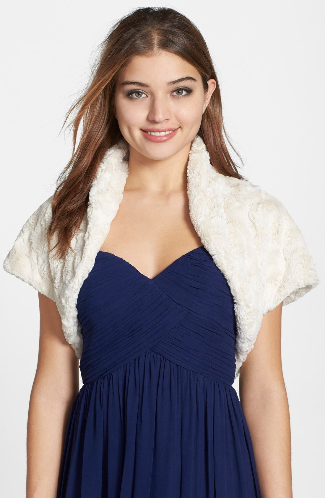 Alternate Image 1 Selected - Eliza J Faux Fur Bolero