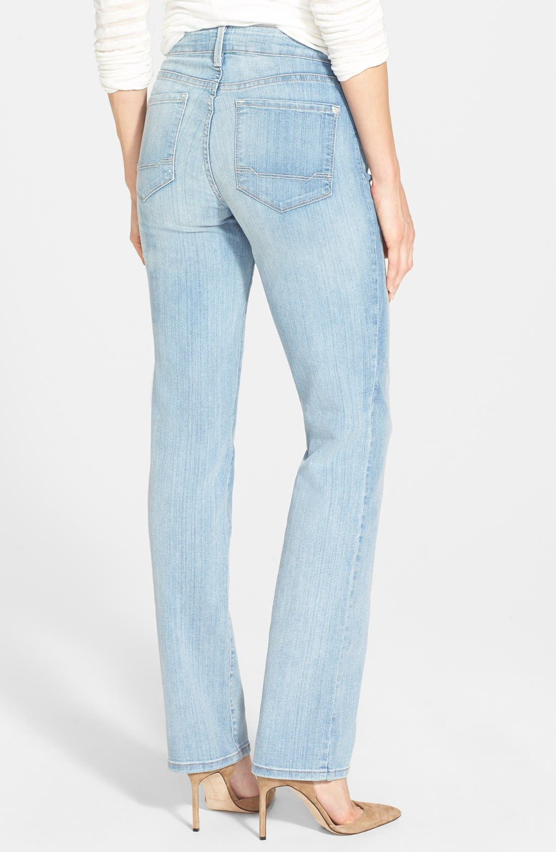 Alternate Image 2  - NYDJ 'Marilyn' Stretch Straight Leg Jeans (Manhattan Beach)