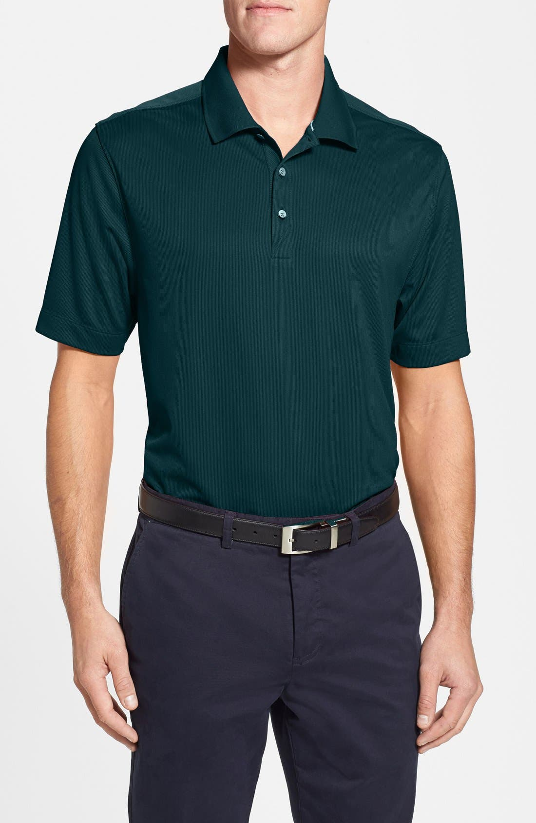 Glendale DryTec Moisture Wicking Polo,                         Main,                         color, Midnight Green