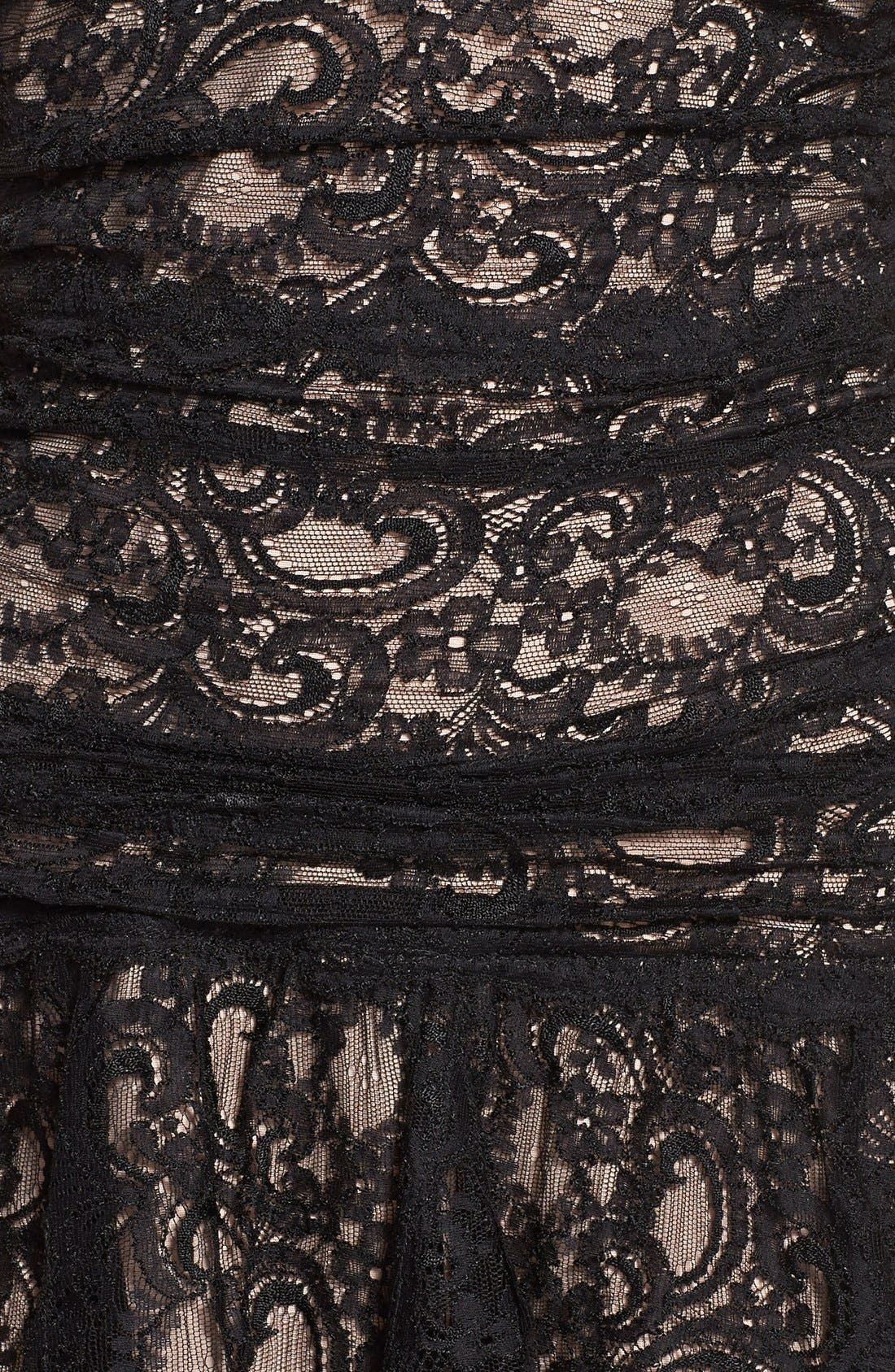 Alternate Image 4  - Nicole Miller Stretch Lace Fit & Flare Dress