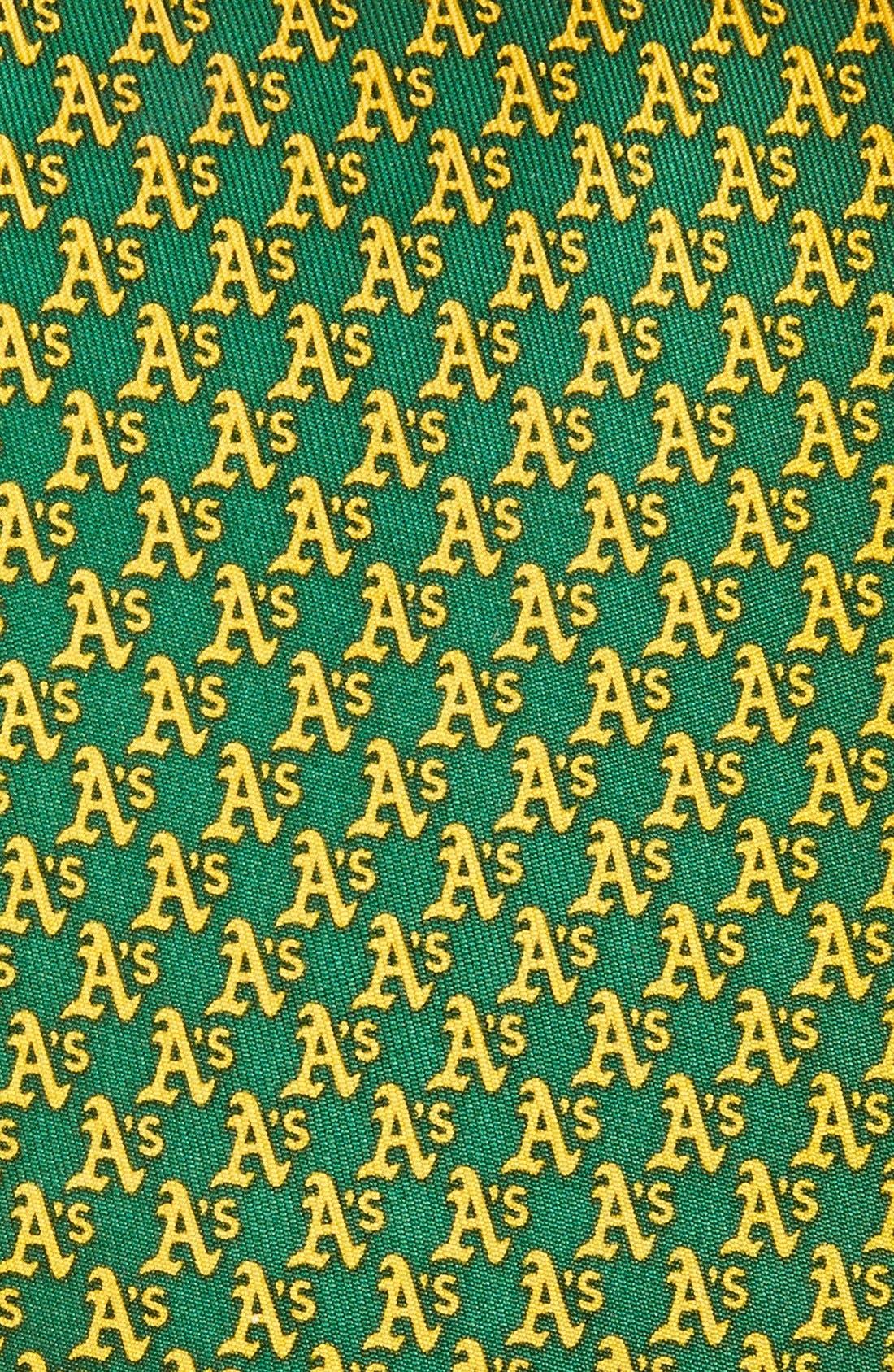 Alternate Image 2  - vineyard vines Oakland Athletics - MLB Woven Silk Tie