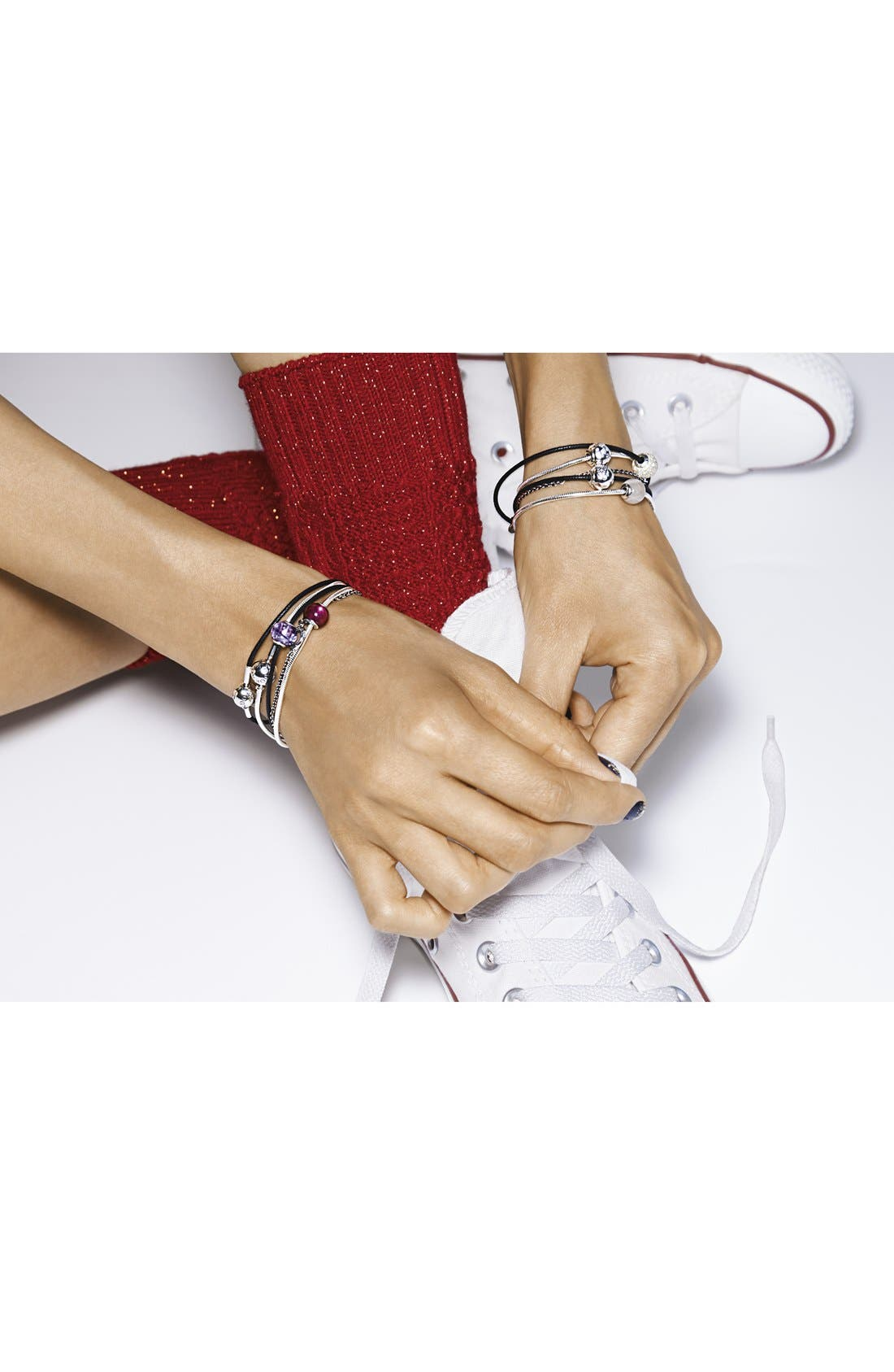 Alternate Image 3  - PANDORA 'Essence - Love' Charm Bracelet Set