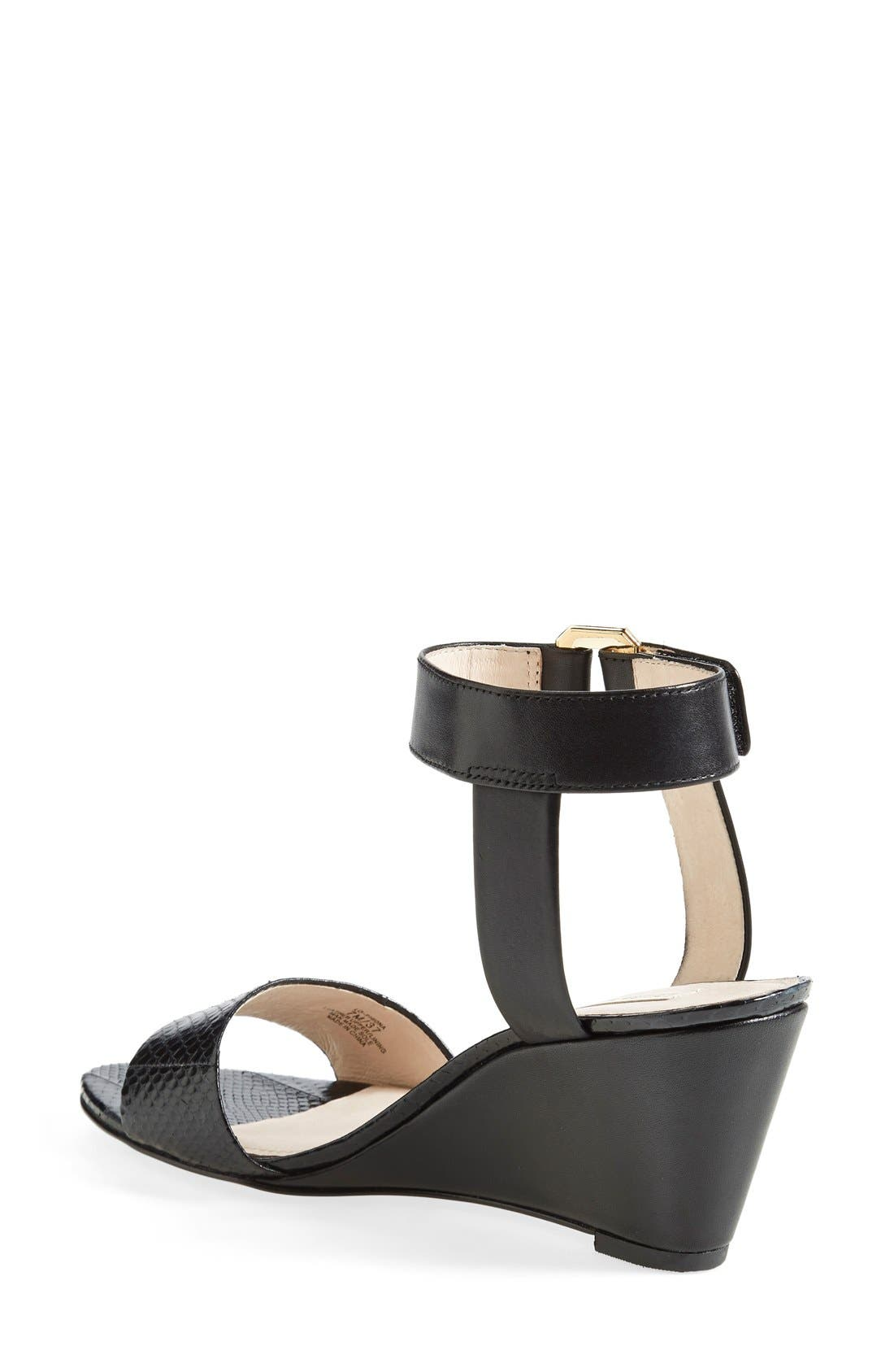 Alternate Image 2  - Louise et Cie 'Phiona' Leather Ankle Strap Wedge Sandal (Women)