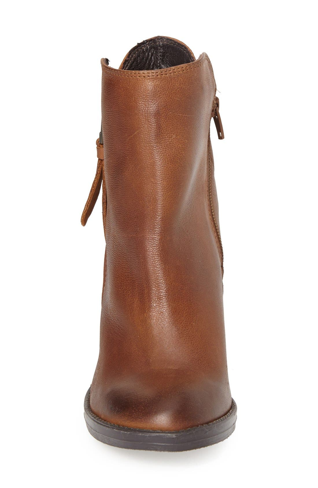 'Ryat' Leather Ankle Bootie,                             Alternate thumbnail 3, color,                             Cognac Leather