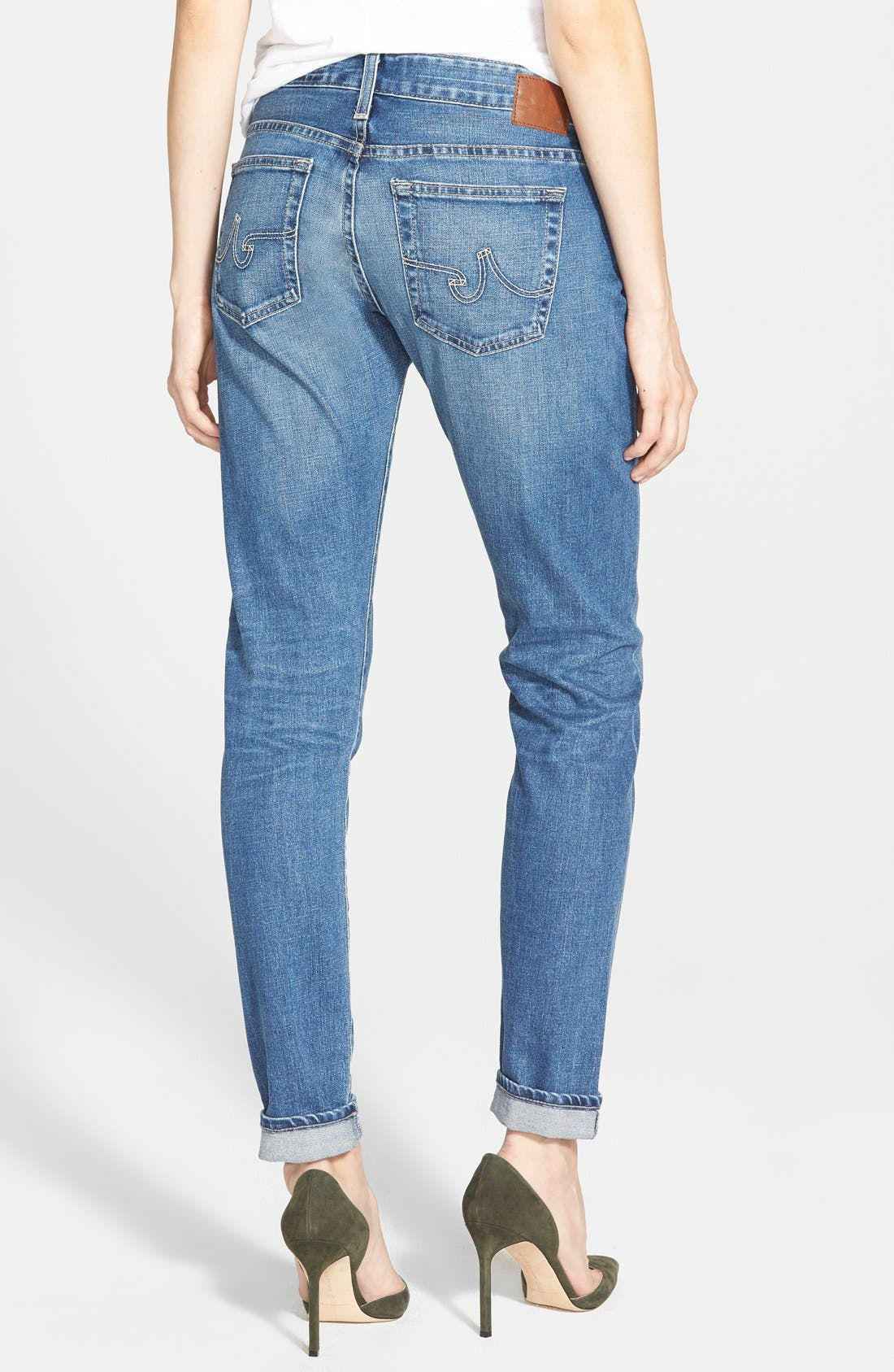 Alternate Image 2  - AG 'The Nikki' Relaxed Skinny Jeans (8 Year Tundra)