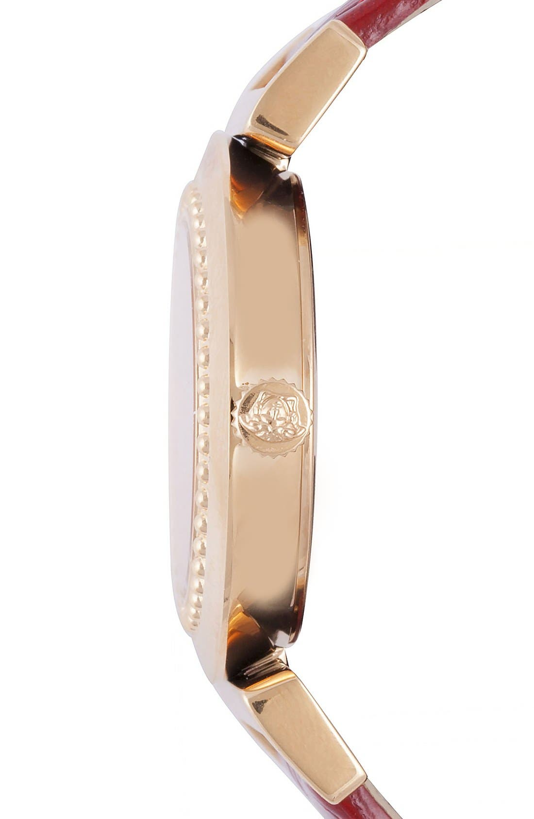 Alternate Image 3  - Versace 'Vanity' Leather Strap Watch, 35mm