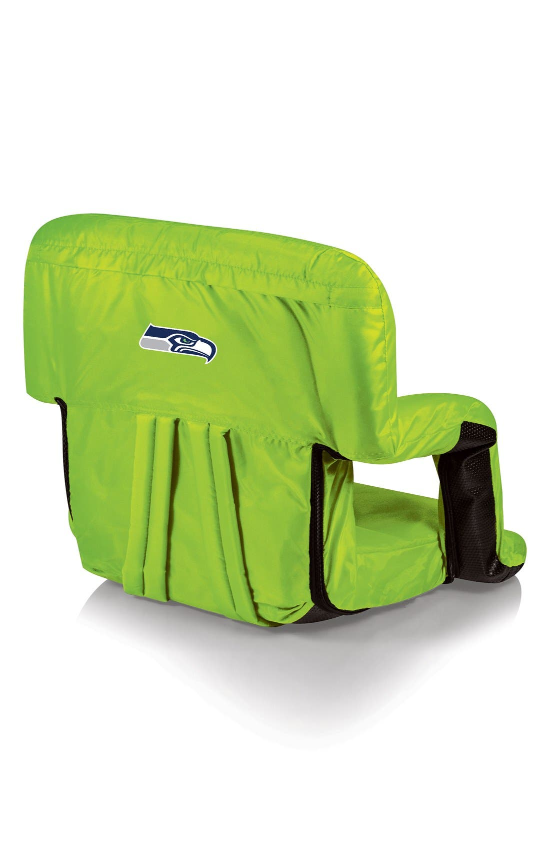 'Ventura' Football Print Stadium Seat,                             Main thumbnail 1, color,                             Seattle Seahawks - Lime