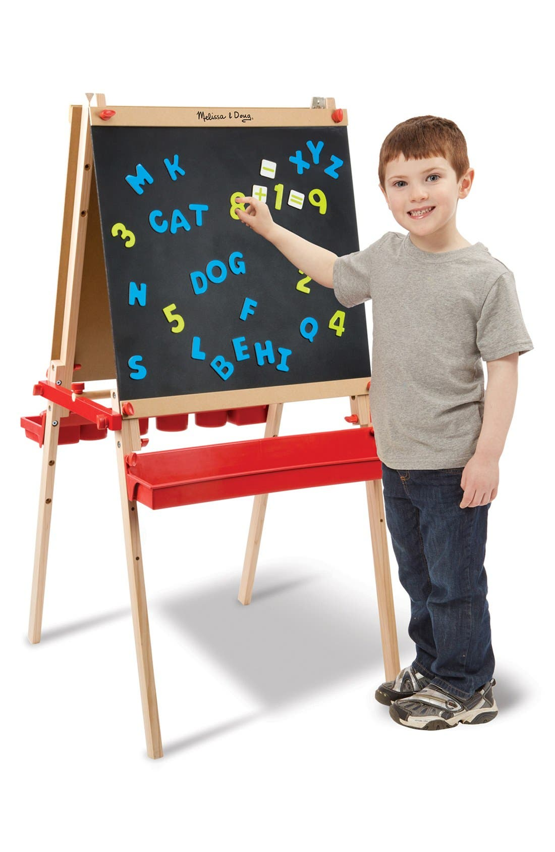 Alternate Image 2  - Melissa & Doug Wooden Easel with Chalkboard and Magnet Board