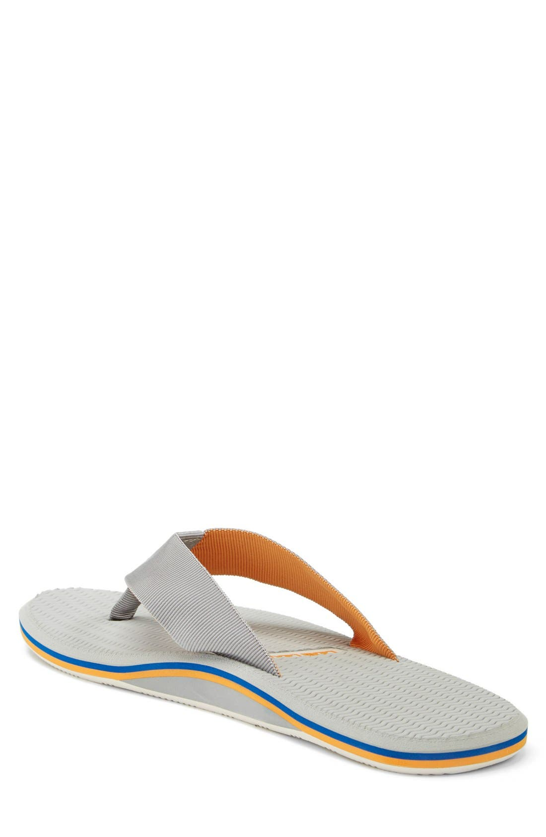 'Dunes' Flip Flop,                             Alternate thumbnail 2, color,                             Grey/ Blue/ Orange