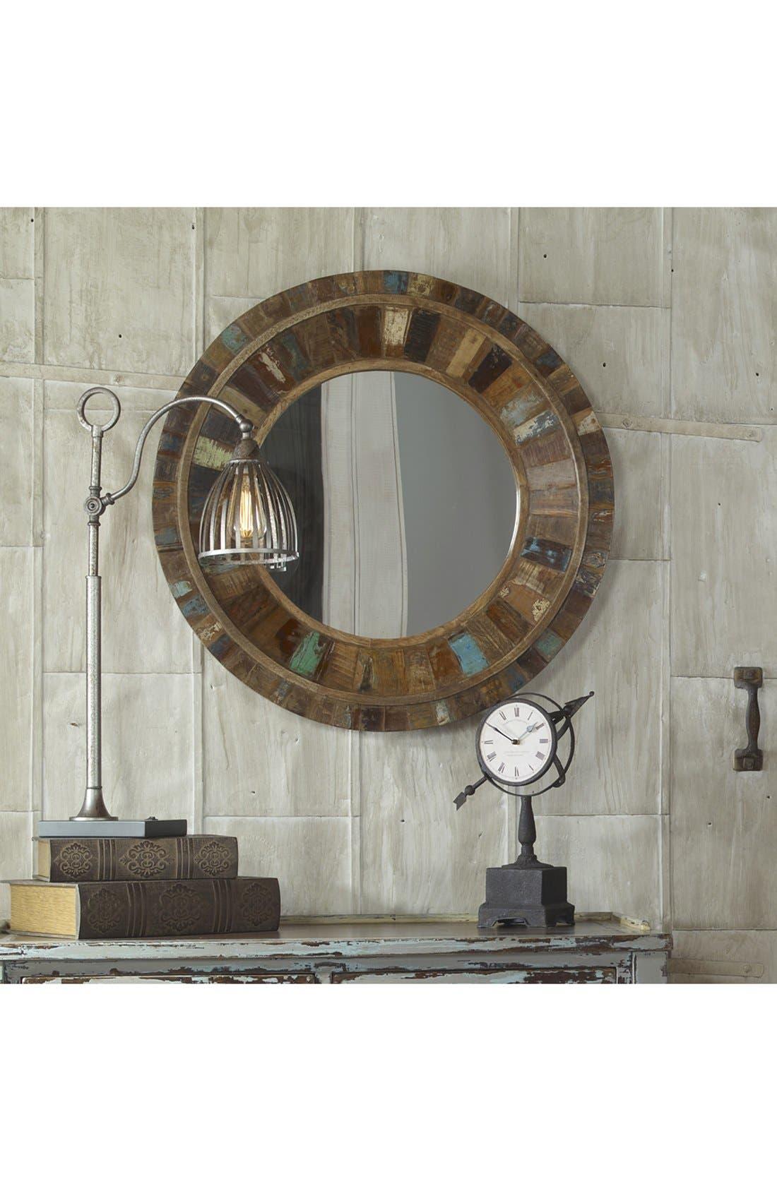 Alternate Image 3  - Uttermost 'Jeremiah' Round Wooden Wall Mirror
