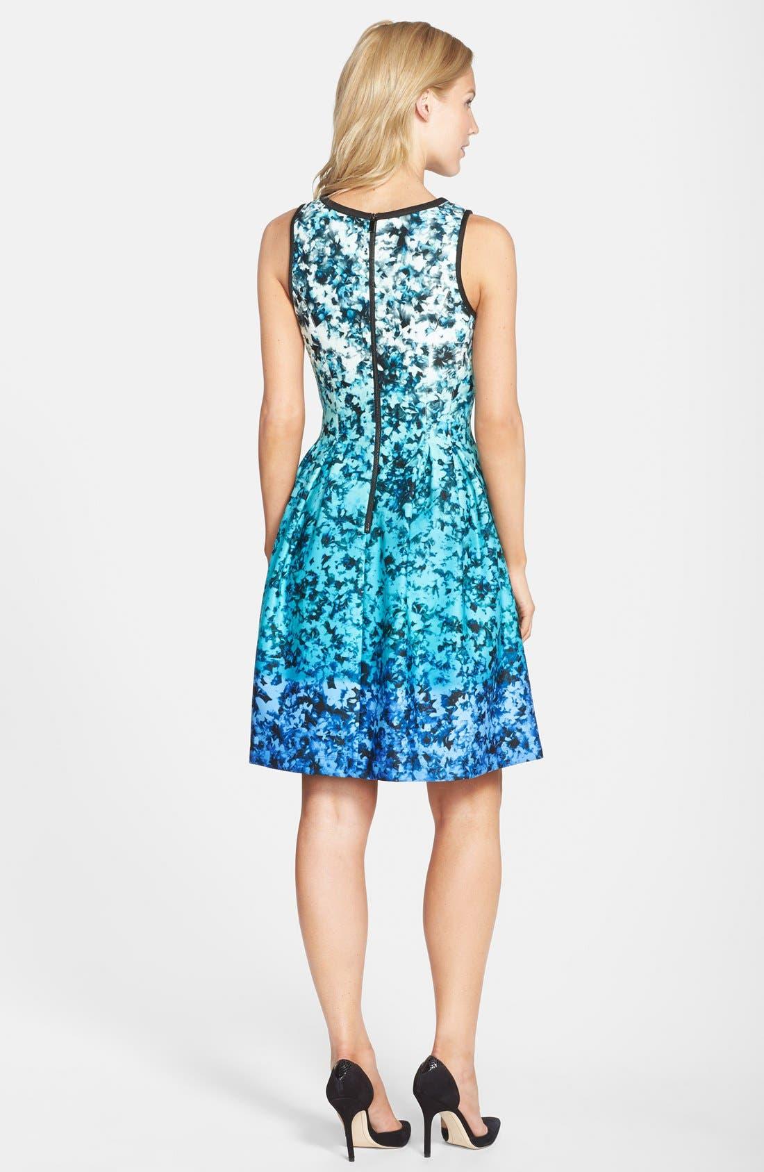 Alternate Image 2  - Vince Camuto Ombré Floral Print Sleeveless Fit & Flare Dress (Regular & Petite)