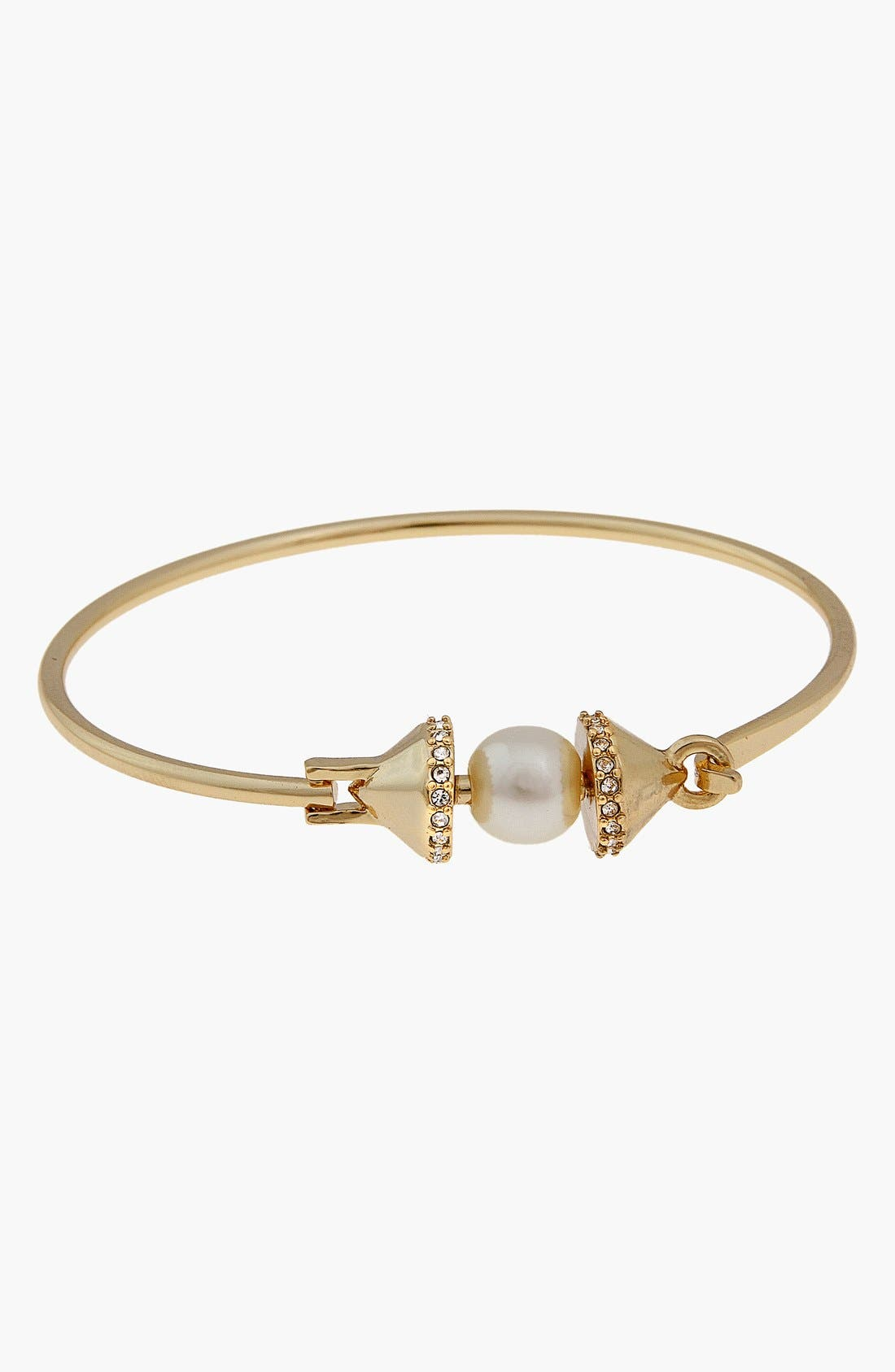 Alternate Image 1 Selected - Rebecca Minkoff Faux Pearl Accent Bangle