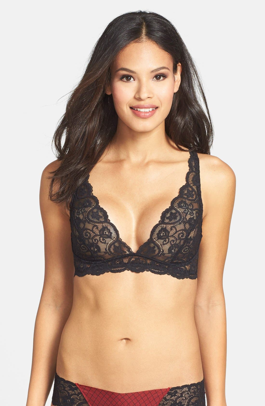Main Image - Commando 'Tulip' Lace Triangle Bra