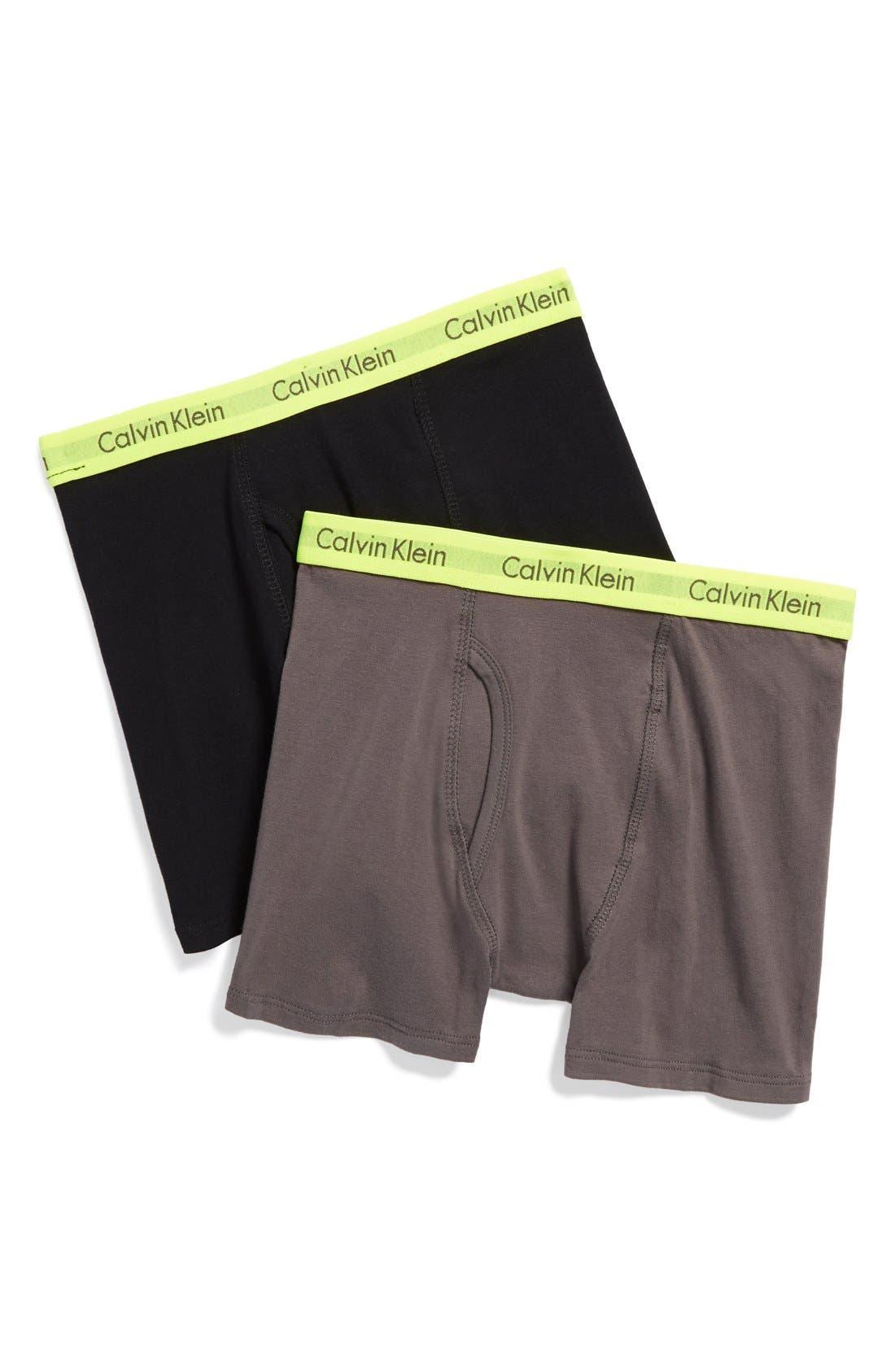 Calvin Klein 2-Pack Boxer Briefs (Little Boys & Big Boys)