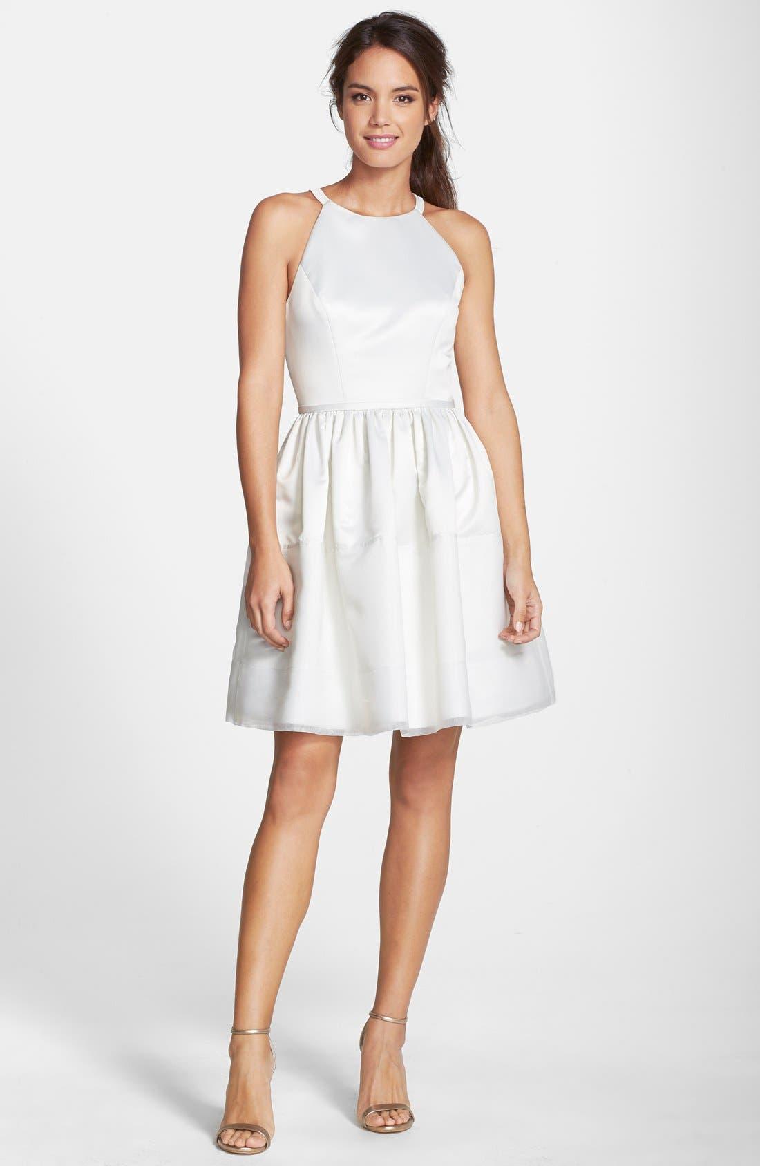 Alternate Image 4  - ERIN erin fetherston 'Savannah' Satin Fit & Flare Dress