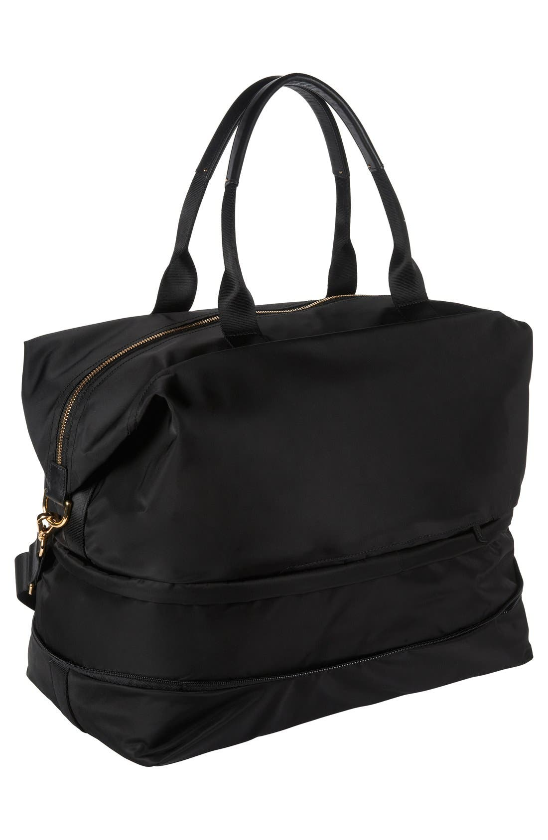 Durban Expandable Duffel Bag,                             Alternate thumbnail 6, color,                             Black