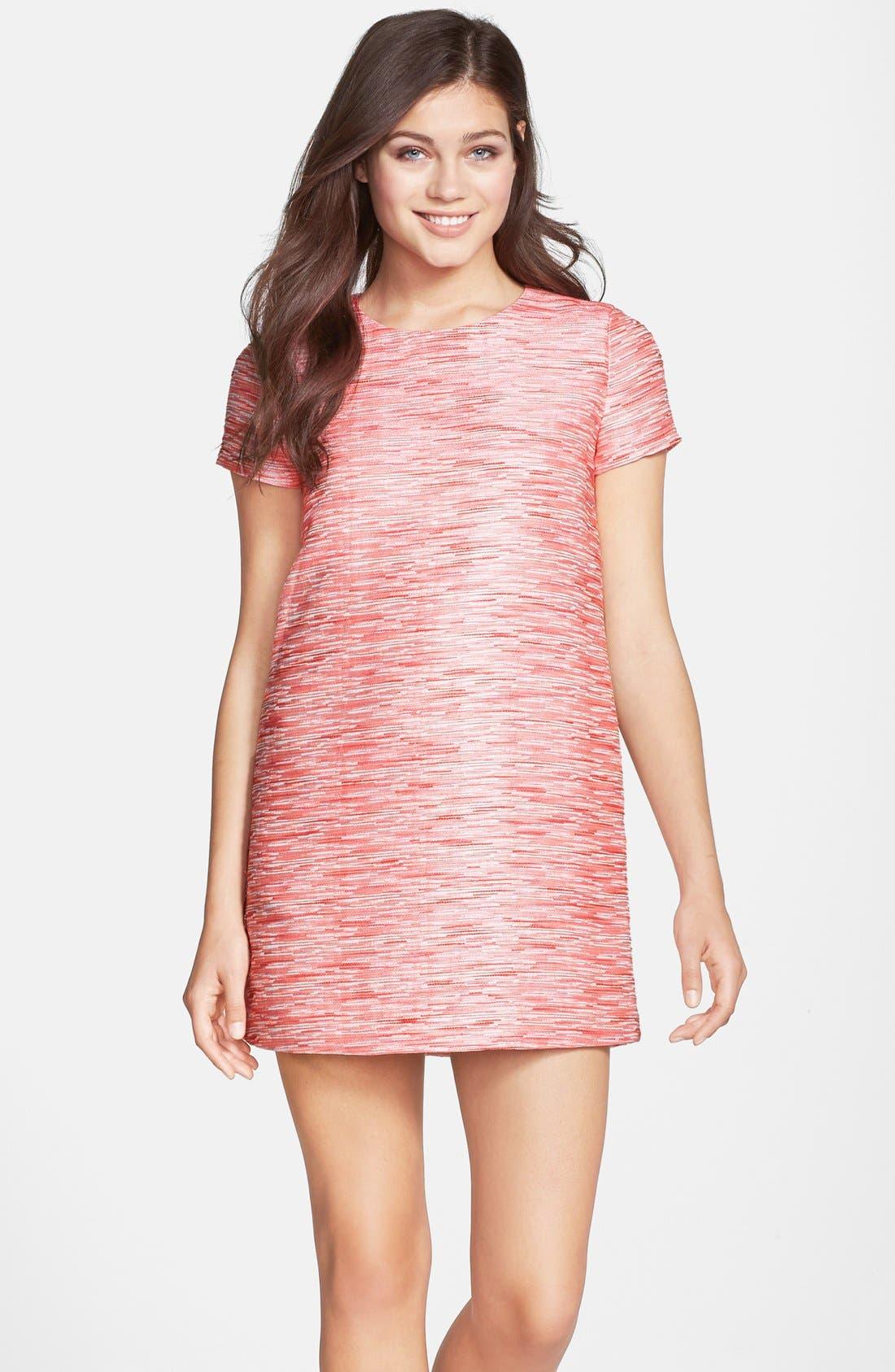 by Cynthia Steffe Jacquard Shift Minidress,                         Main,                         color, Pink Multi