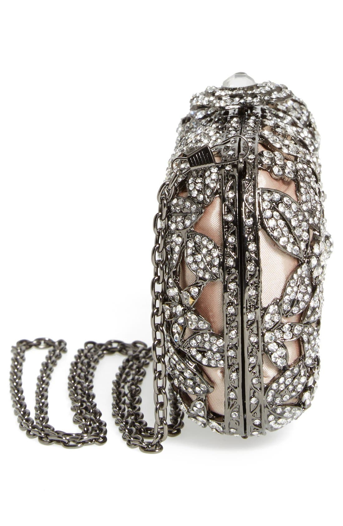 Alternate Image 5  - Natasha Couture Crystal Caged Floral Clutch
