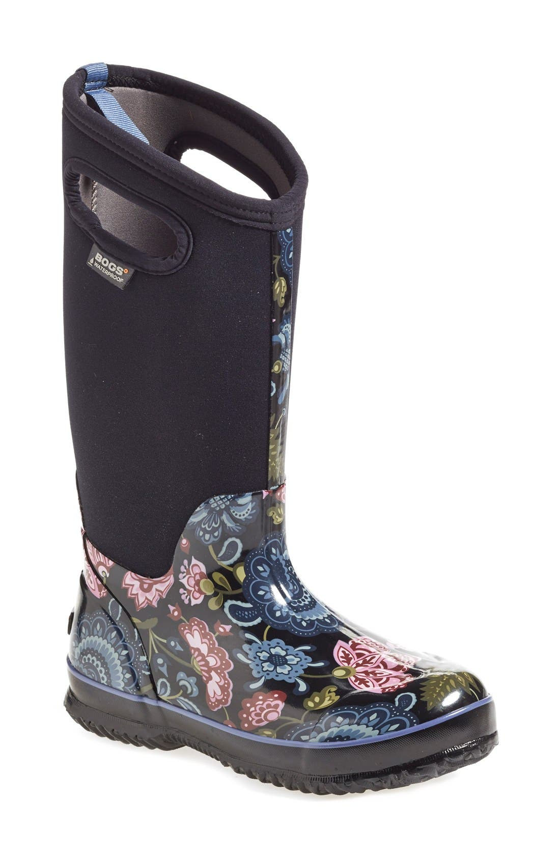 Main Image - Bogs 'Classic Winter Blooms' Tall Waterproof Snow Boot with  Cutout Handles