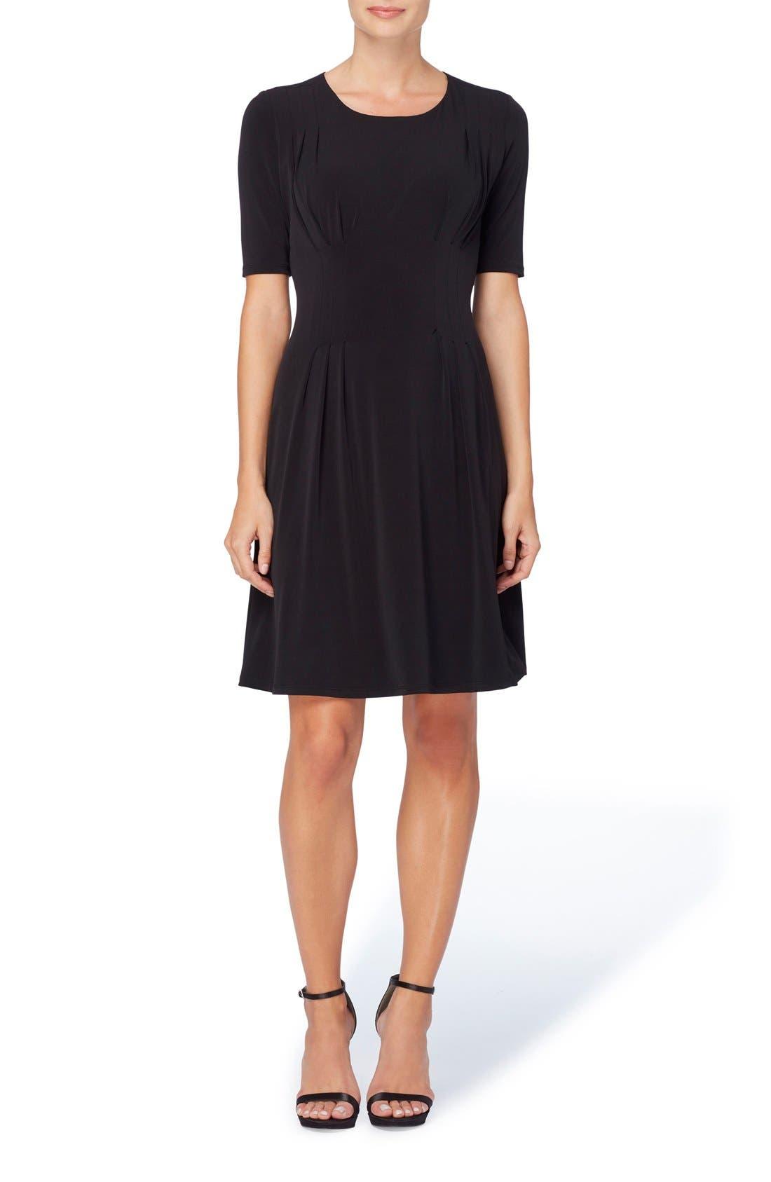 Catherine Catherine Malandrino Jonni Pleat Jersey Fit & Flare Dress