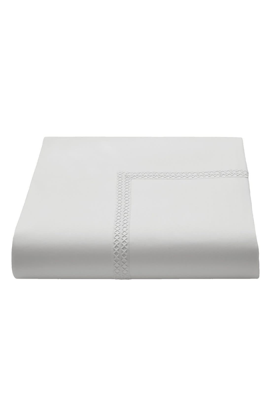 Emilia Duvet Cover,                             Alternate thumbnail 2, color,                             White