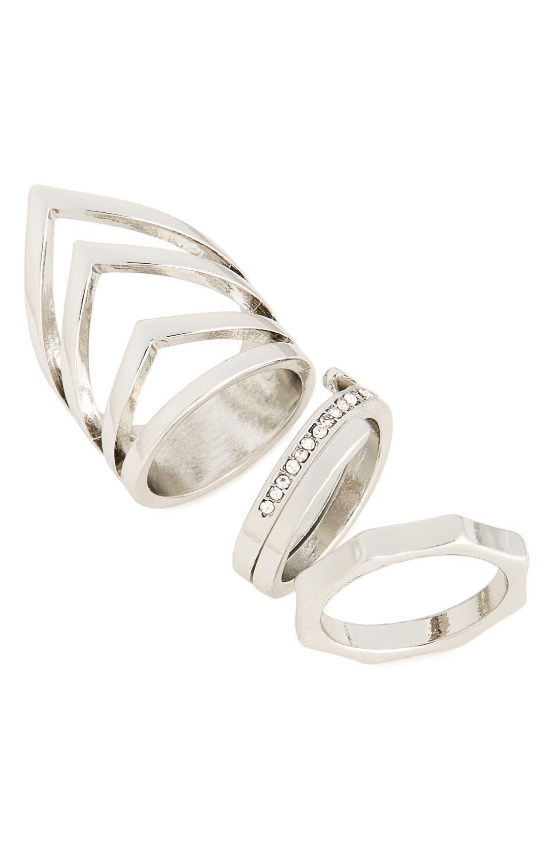 Main Image - Topshop Set of 3 Rings