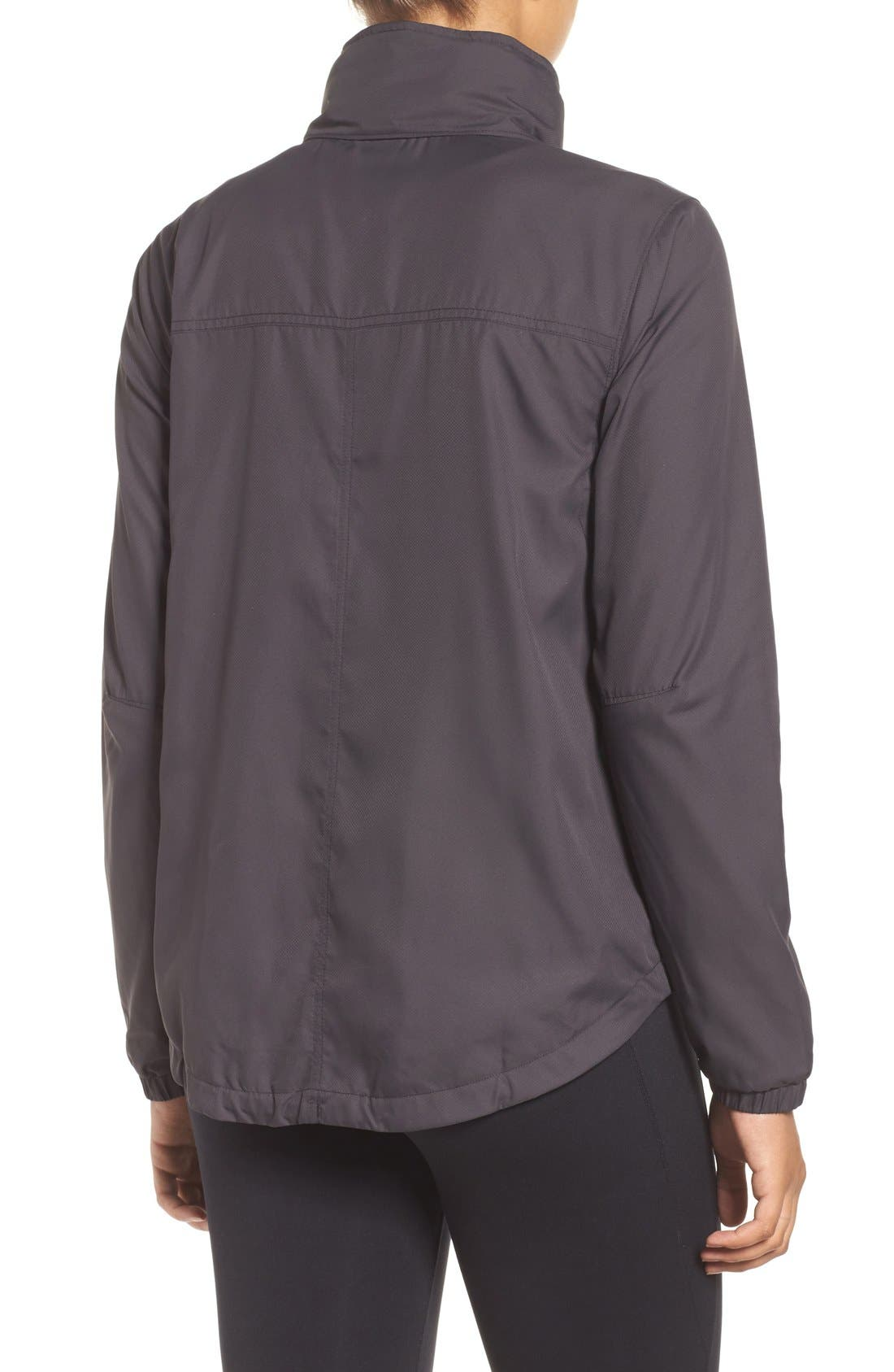 Mountain View Windbreaker Jacket,                             Alternate thumbnail 2, color,                             Ink Black
