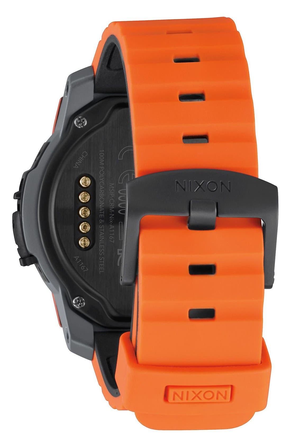 Mission Ana-Digi Smart Watch, 48mm,                             Alternate thumbnail 2, color,                             Orange/ Black