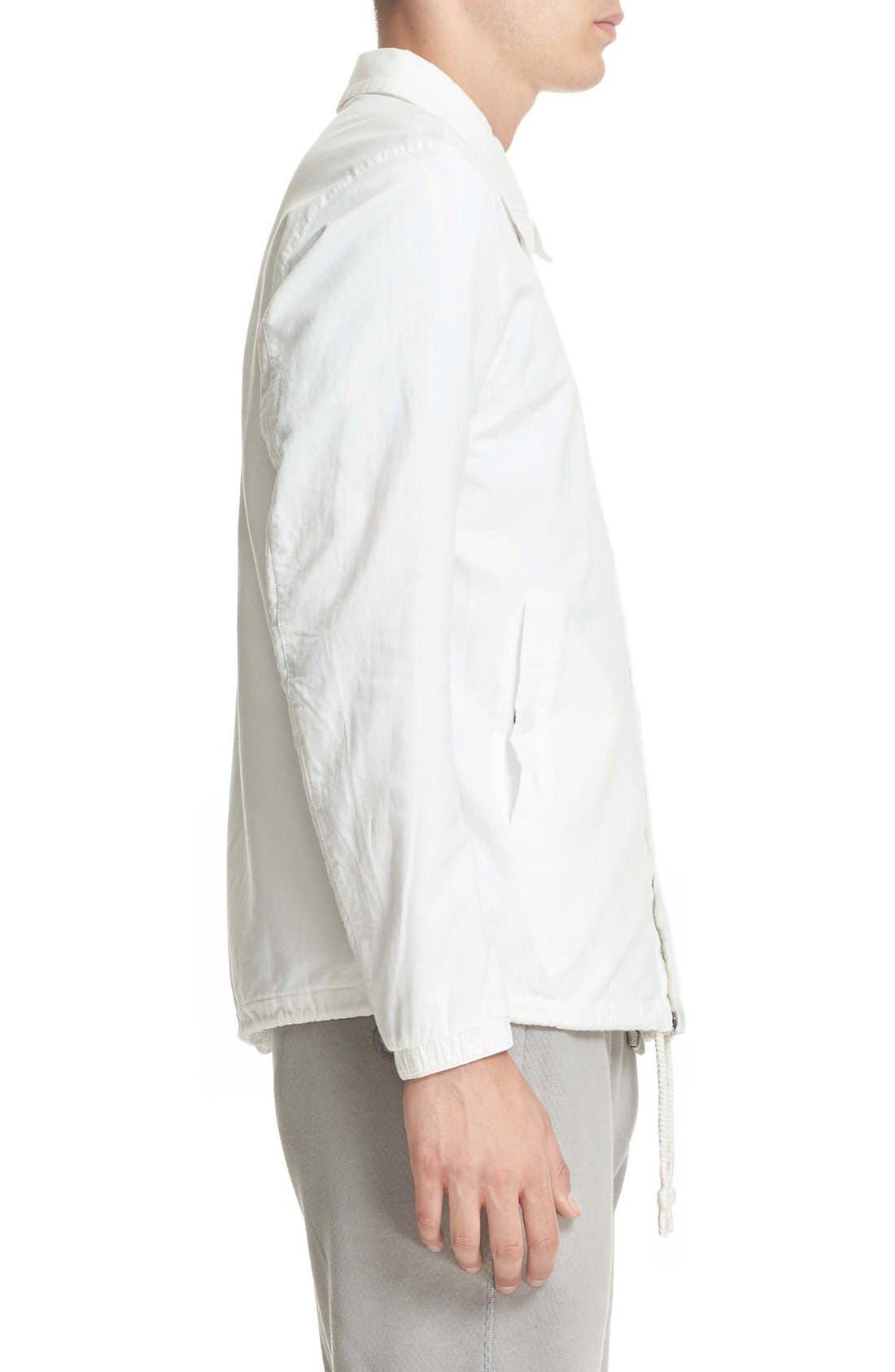 Cotton & Linen Coach Jacket,                             Alternate thumbnail 3, color,                             Off White