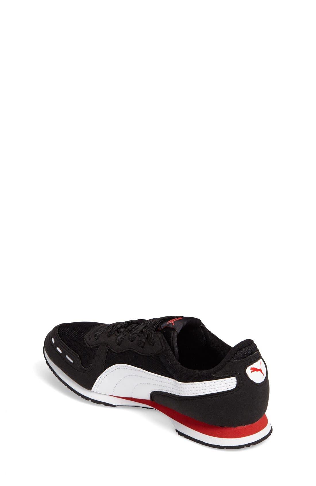 Cabana Racer Sneaker,                             Alternate thumbnail 2, color,                             Puma Black-Puma White
