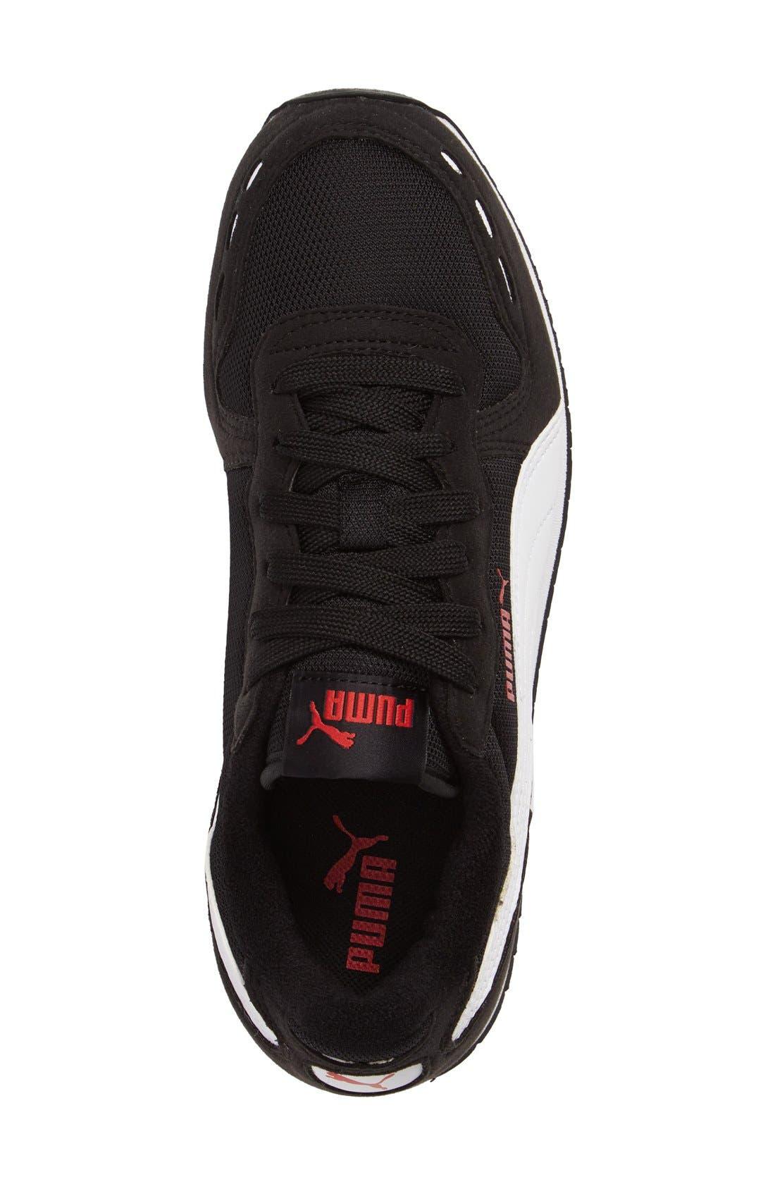 Cabana Racer Sneaker,                             Alternate thumbnail 3, color,                             Puma Black-Puma White