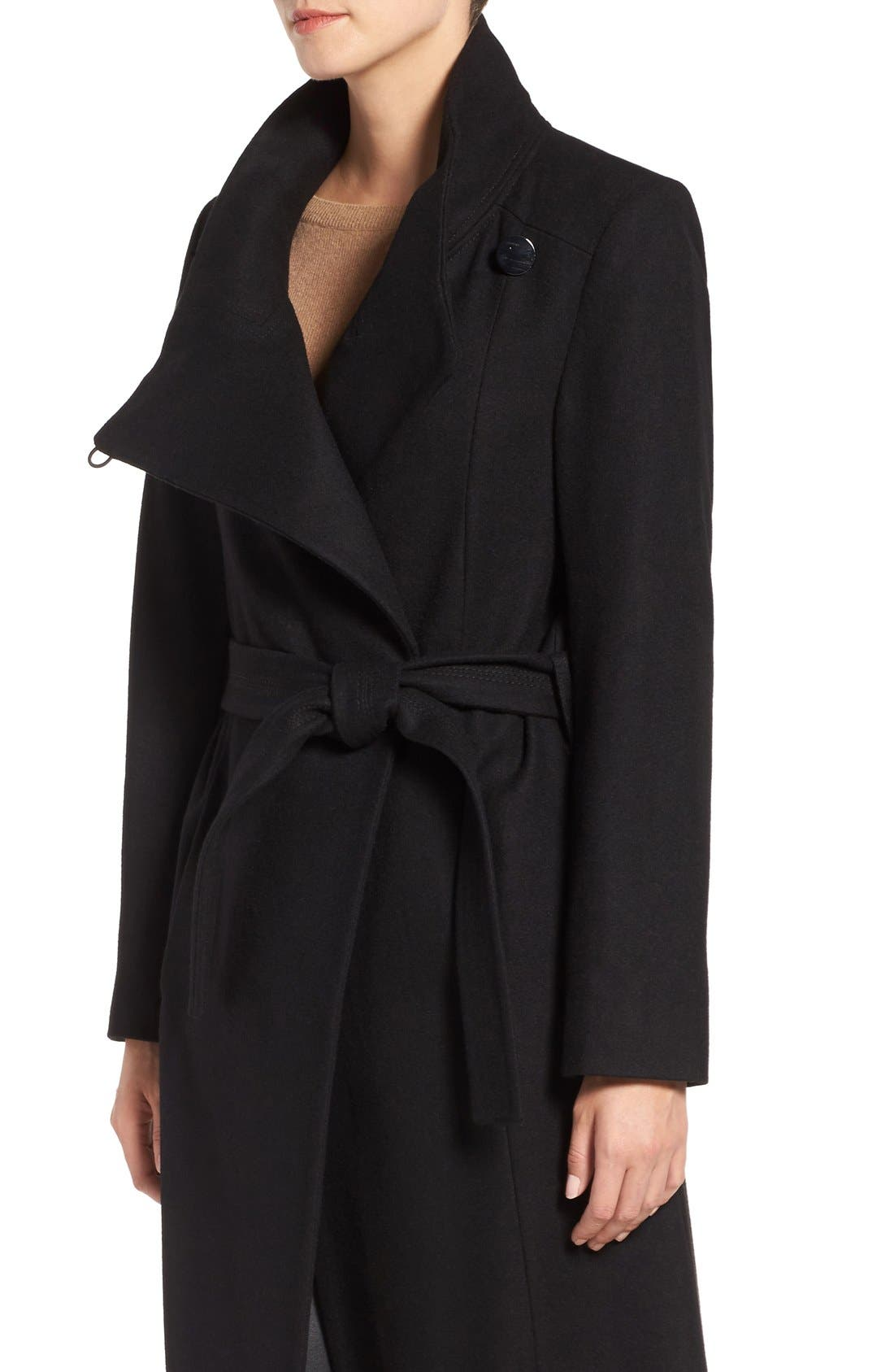 Alternate Image 4  - Kenneth Cole New York Wool Blend Maxi Wrap Coat