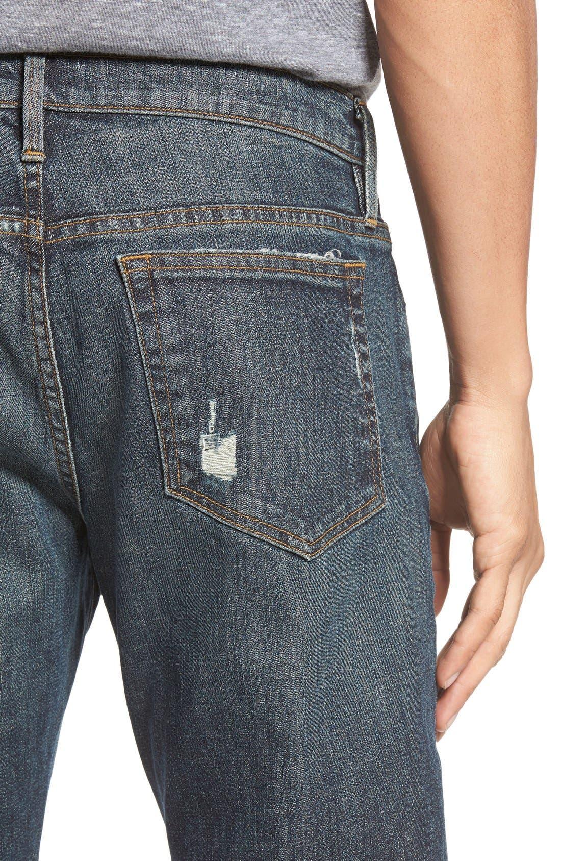 Alternate Image 4  - FRAME L'Homme Slim Fit Jeans (Fort Davis)