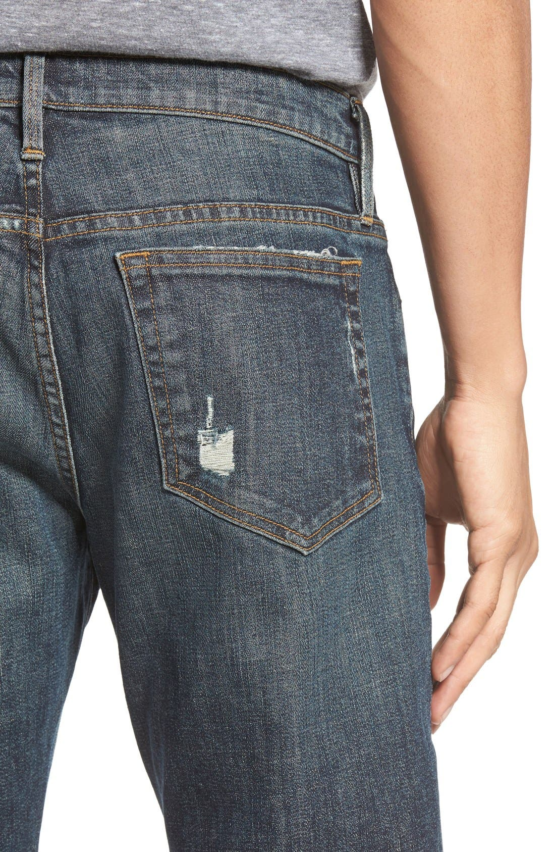 L'Homme Slim Fit Jeans,                             Alternate thumbnail 4, color,                             Fort Davis